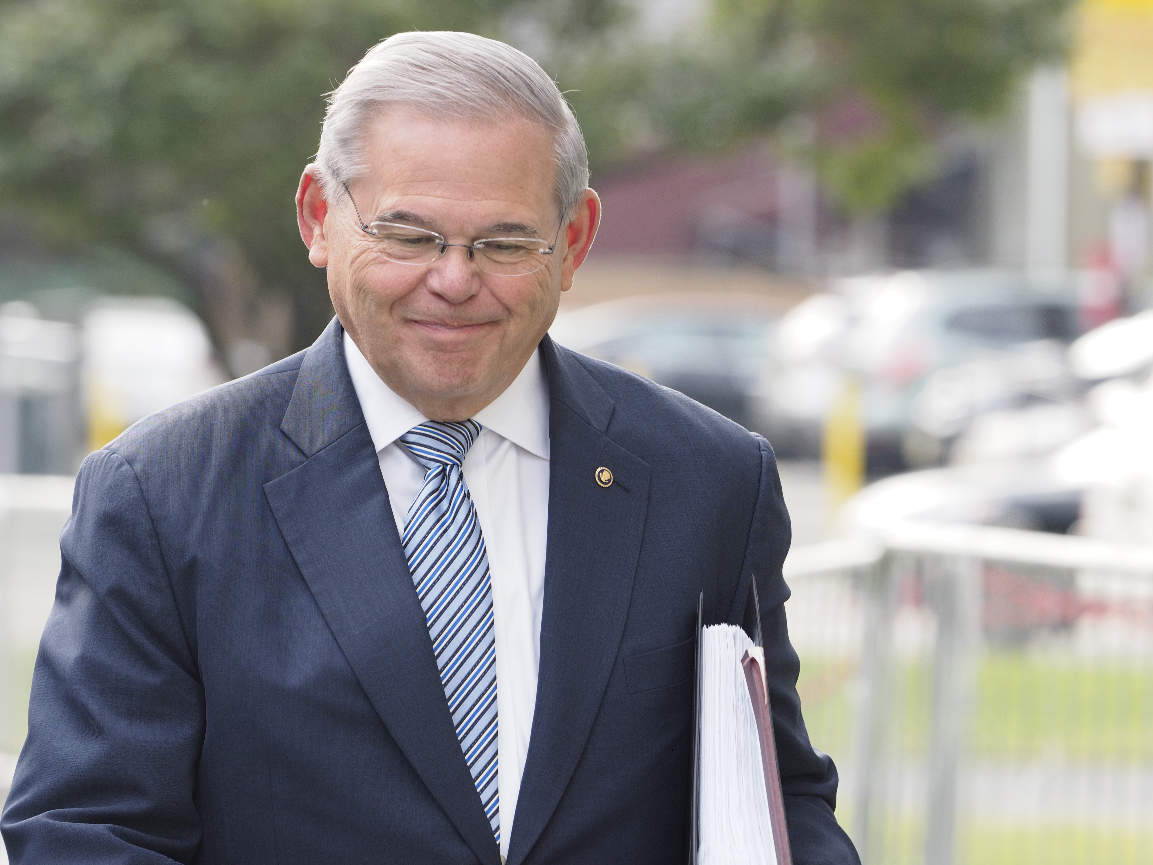 U.S. Sen. Robert Menendez arrives at the federal courthouse in Newark on Tuesday. Menendez prepares to stand trial on federal corruption charges as jury selection begins. August 22, 2017 (Patti Sapone | NJ Advance Media for NJ.com).