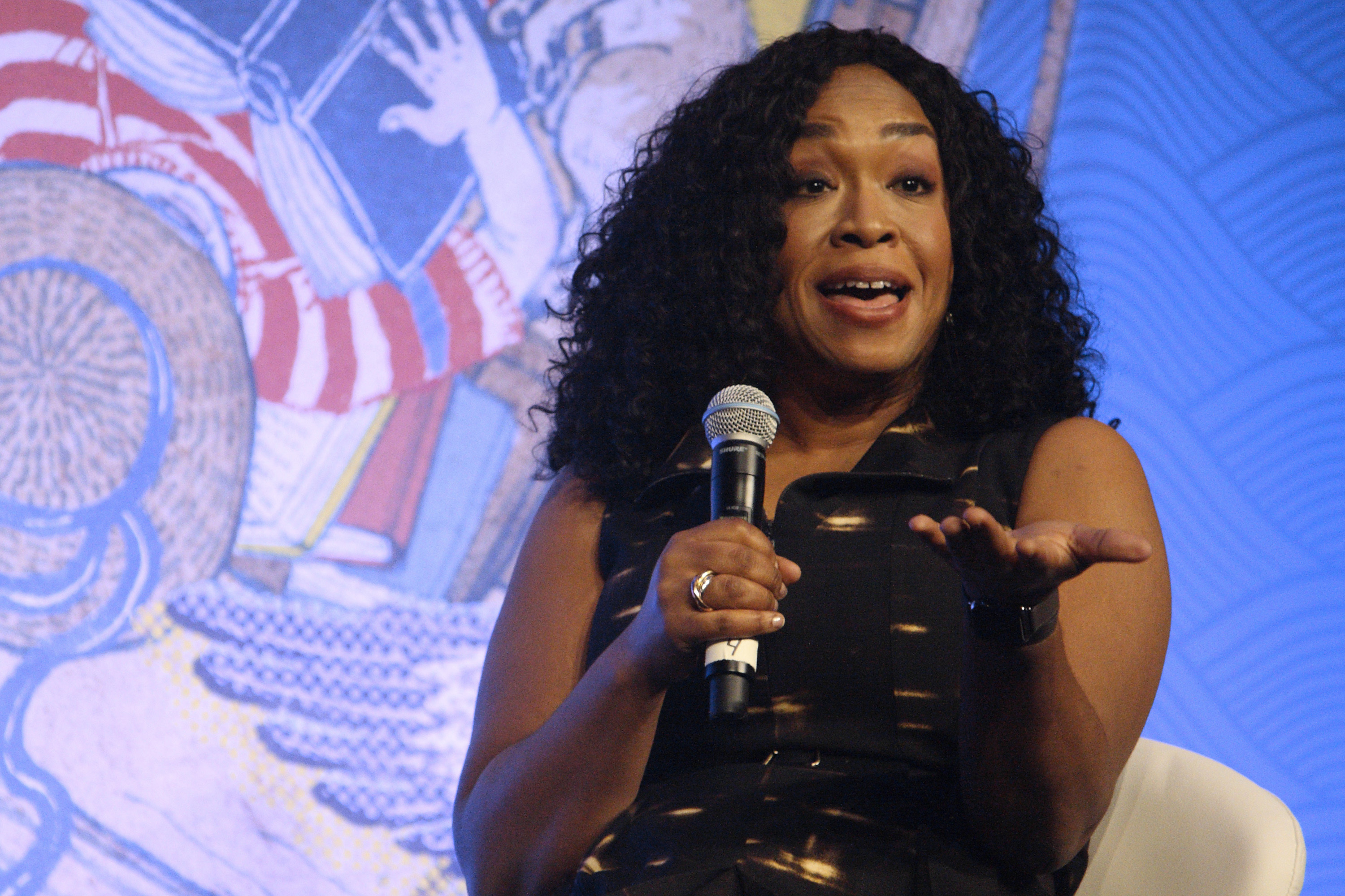 Shonda Rhimes, writer and television producer, will moderate a panel with Michelle Obama Tuesday in Center City.