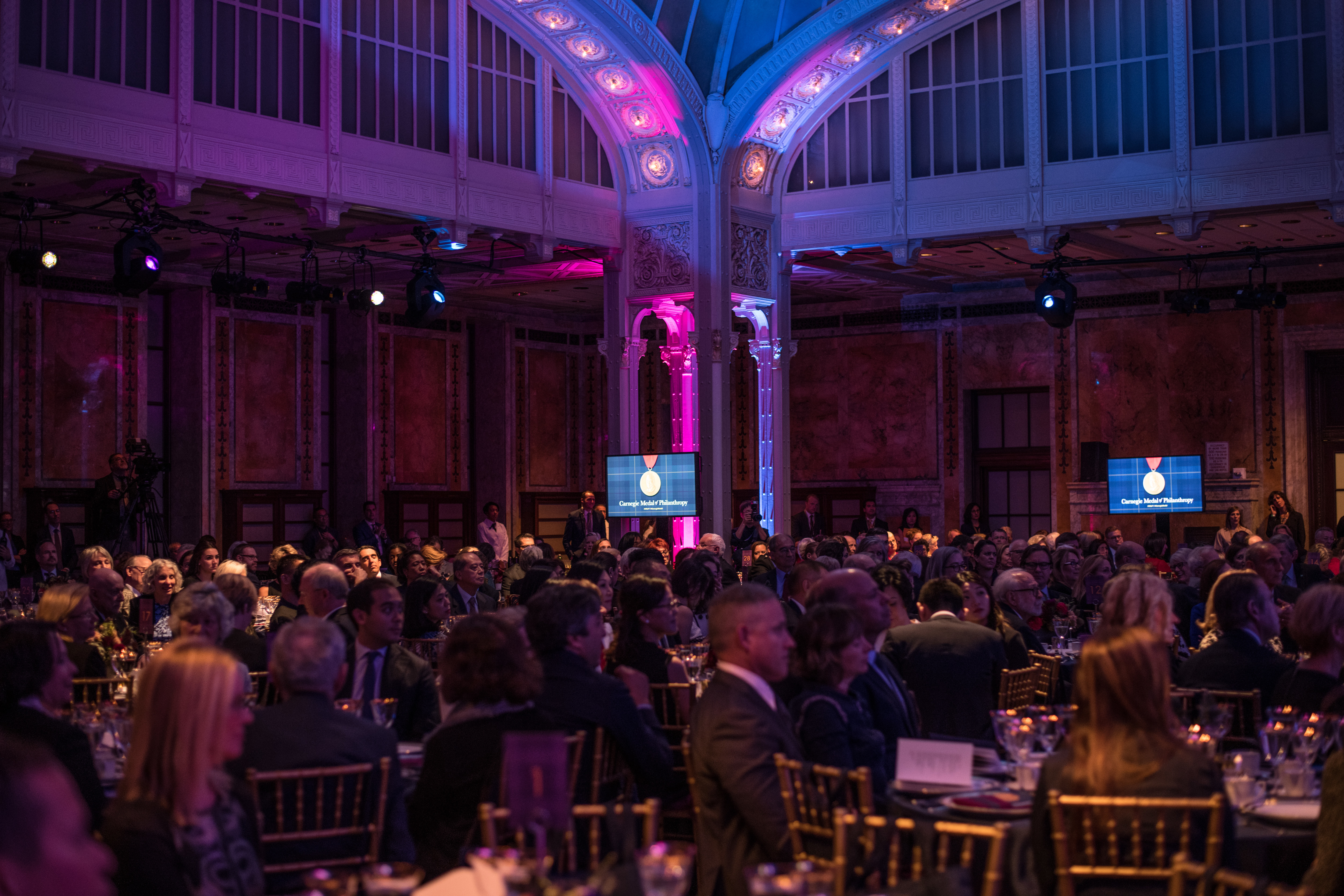 A crowd of 300 attended the Carnegie ceremonies at the New York Public Library. (Andrew Renneisen for The Inquirer)