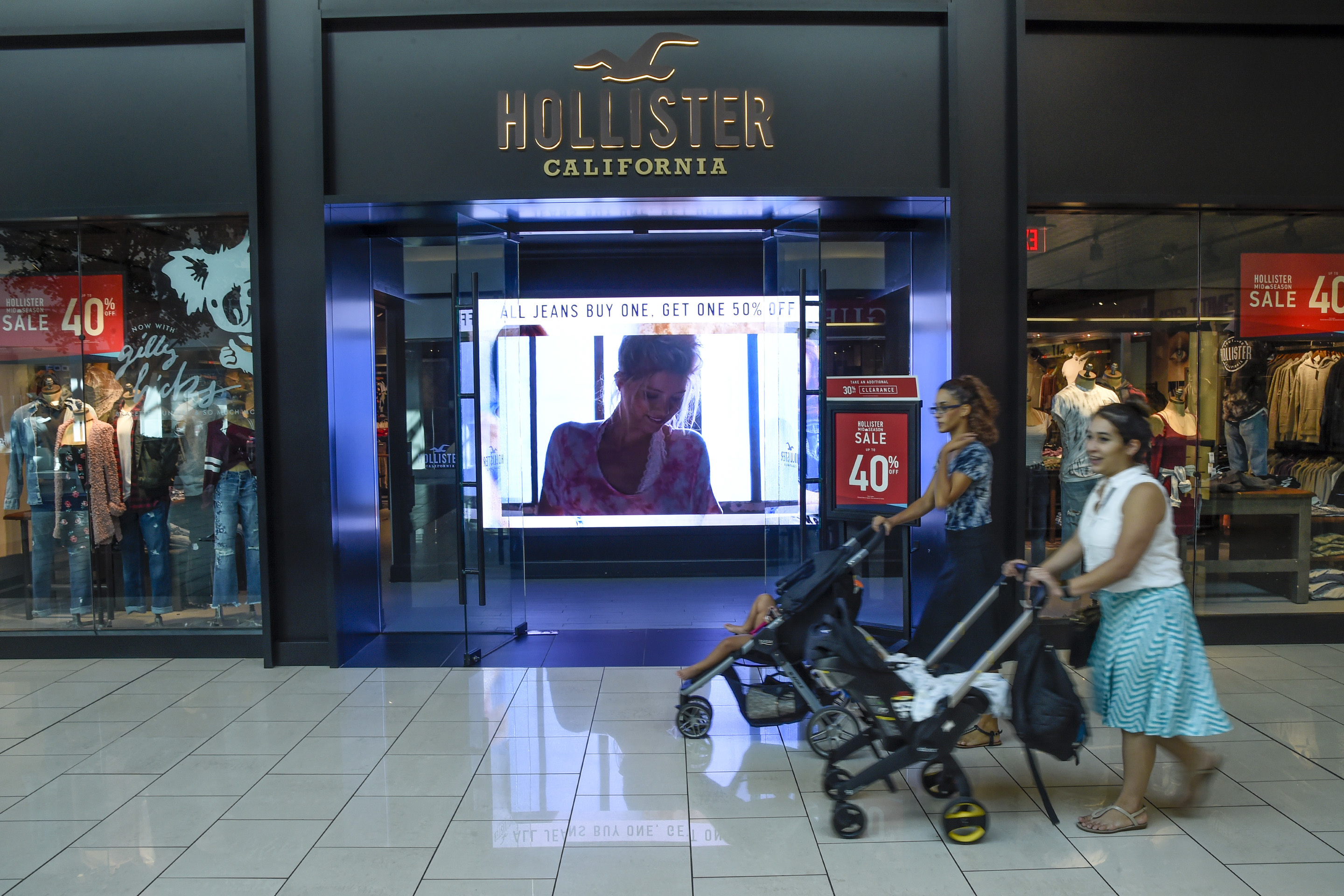 Hollister, in the Cherry Hill Mall, is one of five existing stores that had to be relocated to accommodate the arrival of Zara, the high-end fashion brand out of Spain, by mall owner Pennsylvania Real Estate Investment Trust (PREIT). r