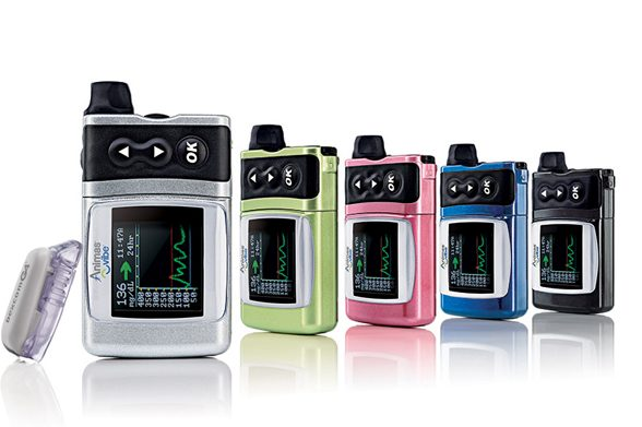 The Animas Vibe insulin pump, manufactured by Animas Corp., a diabetes-care unit that parent company Johnson & Johnson plans to close.