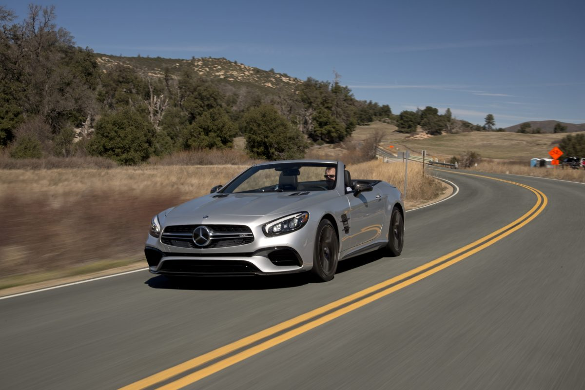 2017 Mercedes-AMG SL63 has undergone extensive restyling and is a much more handsome car.