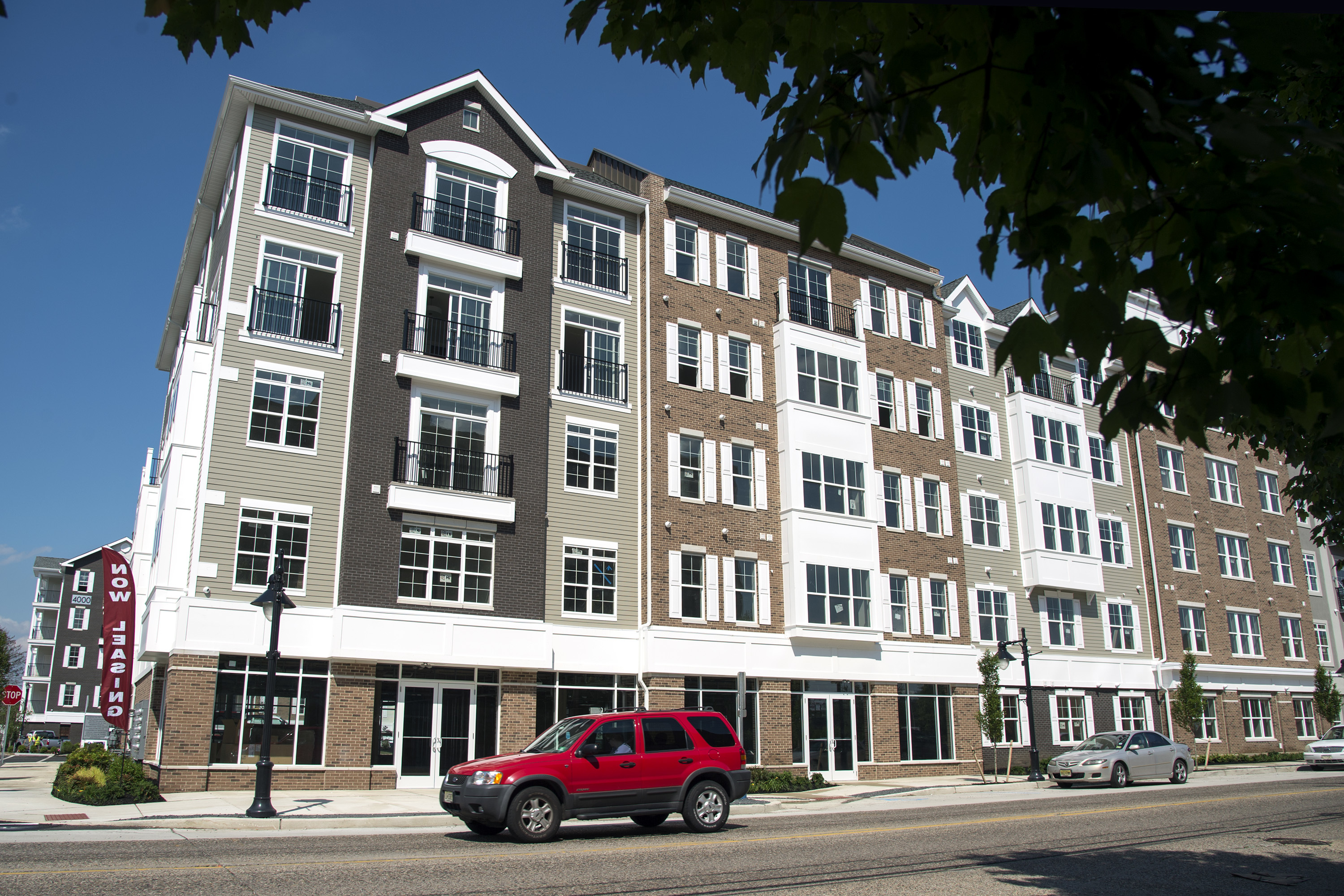 The new complex of apartments near the PATCO Speedline station along Haddon Avenue in the Westmont section of Haddon Township, where the number of younger residents is increasing. .