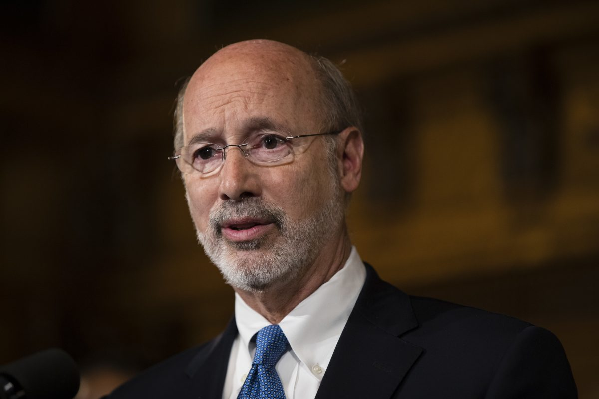 Gov. Tom Wolf says he can fix the state budget mess by himself. (AP Photo/Matt Rourke)