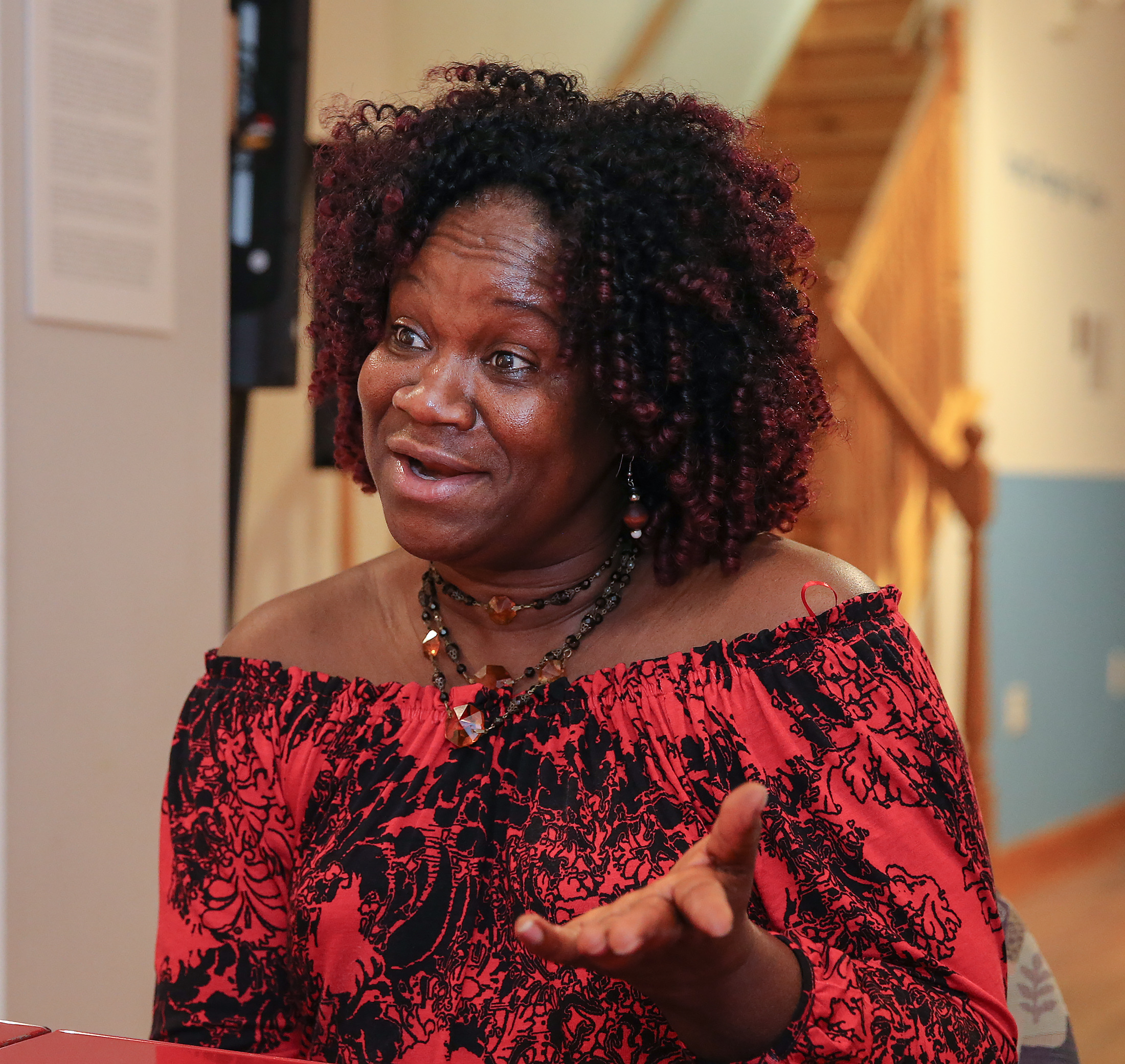 Liberian singer Fatu Gayflor, at the Philadelphia Folklore Project in West Philadelphia. She and three other Liberian singers are the subject of a new documentary, Because of the War, produced by the folklore project and premiering here on Sunday Oct. 15.