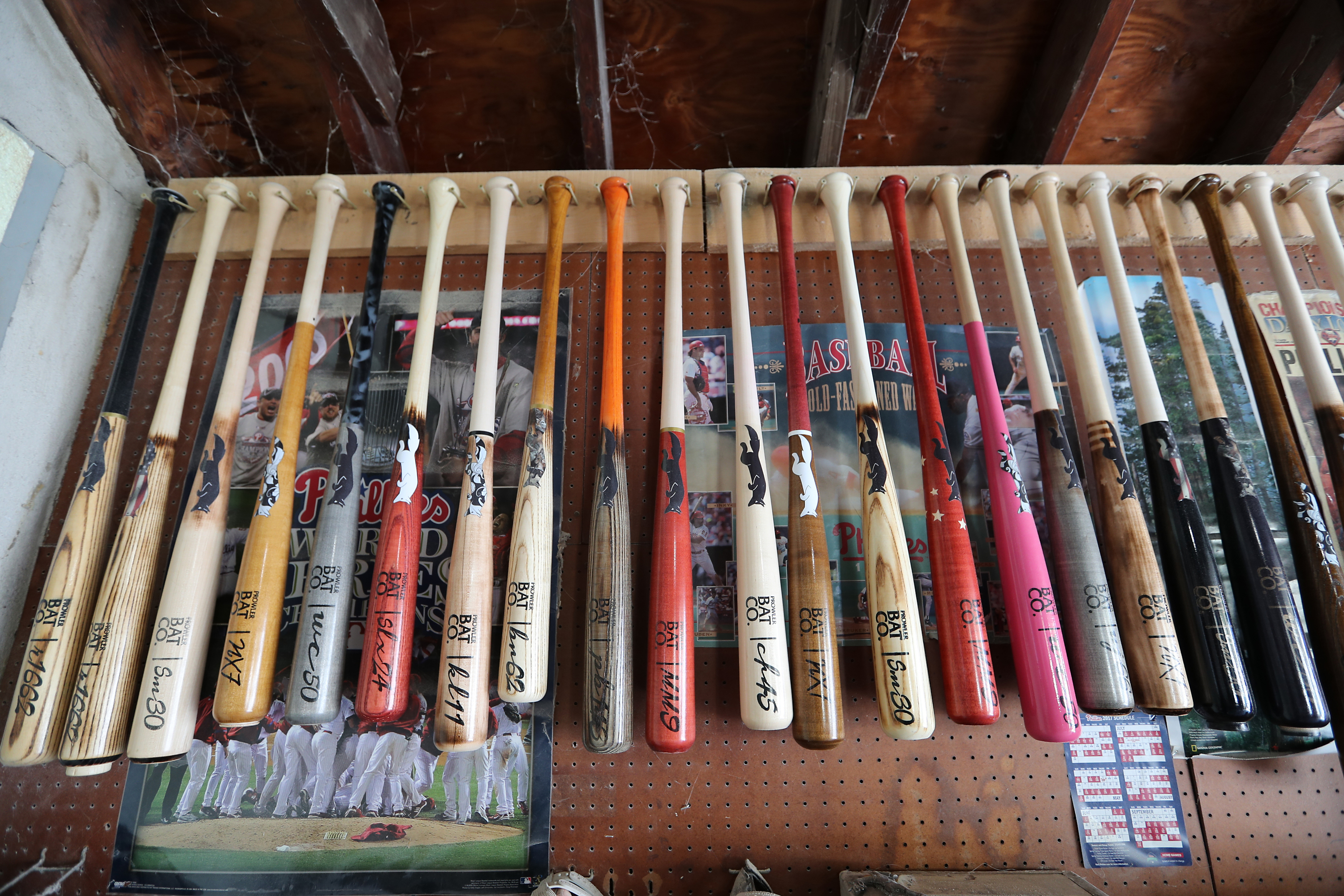 Prowler Bats are custom-made, and come in a variety of colors. DAVID SWANSON / Staff Photographer