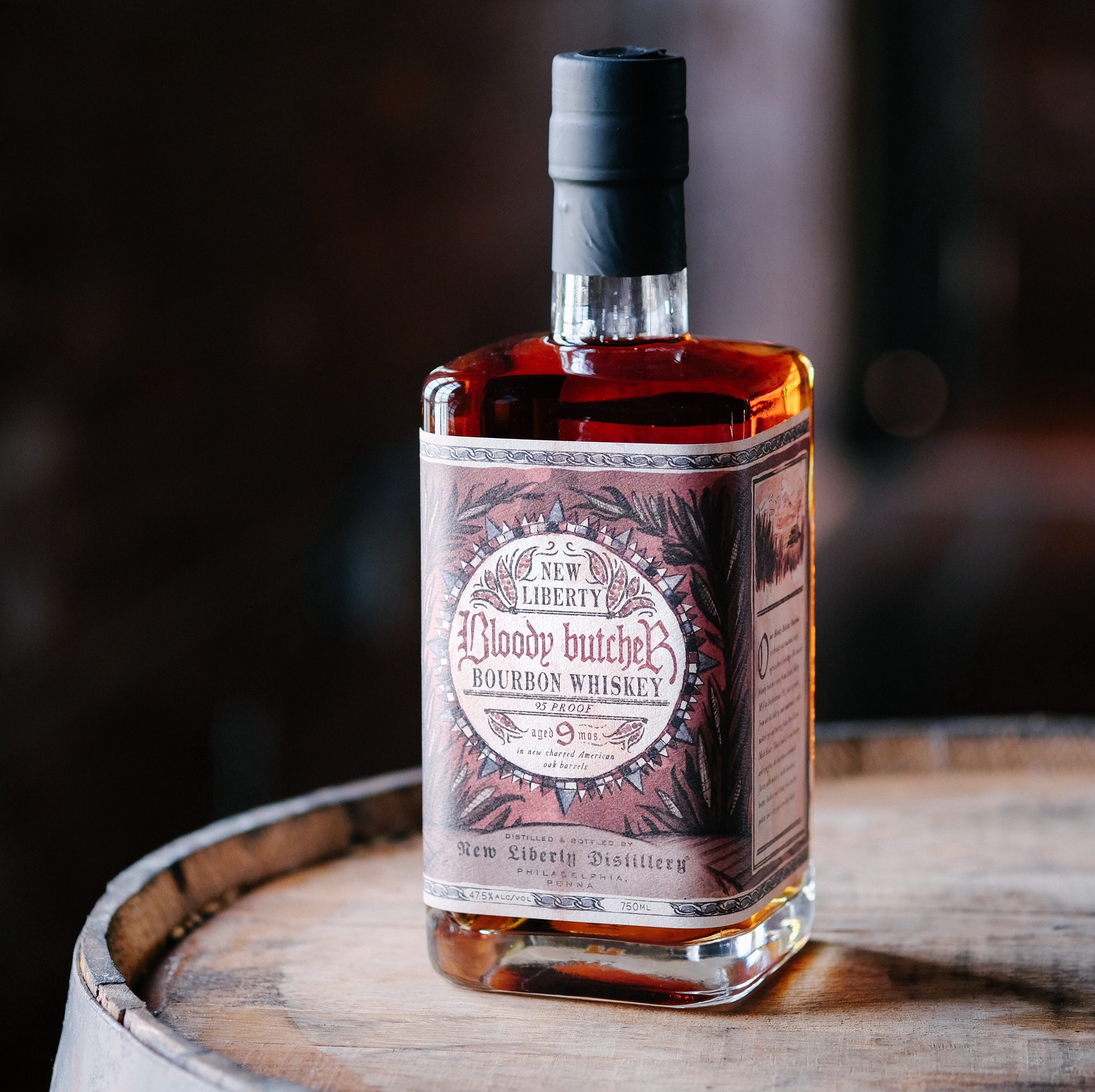 Bloody Butcher Bourbon from New Liberty Distillery.