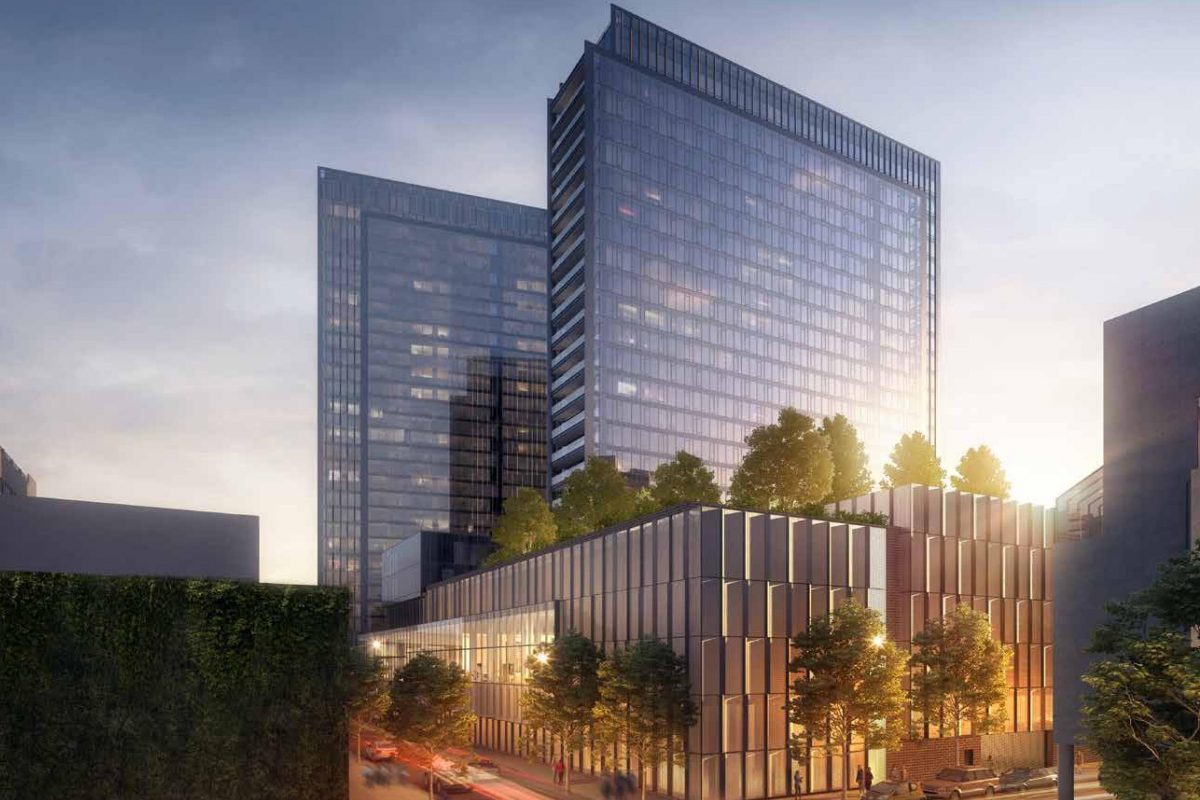 """PMC""""s proposed development on 23rd Street would have a 54-foot-high, solid garage wall at the corner of Cherry Street, one block from the Schuylkill River Trail."""