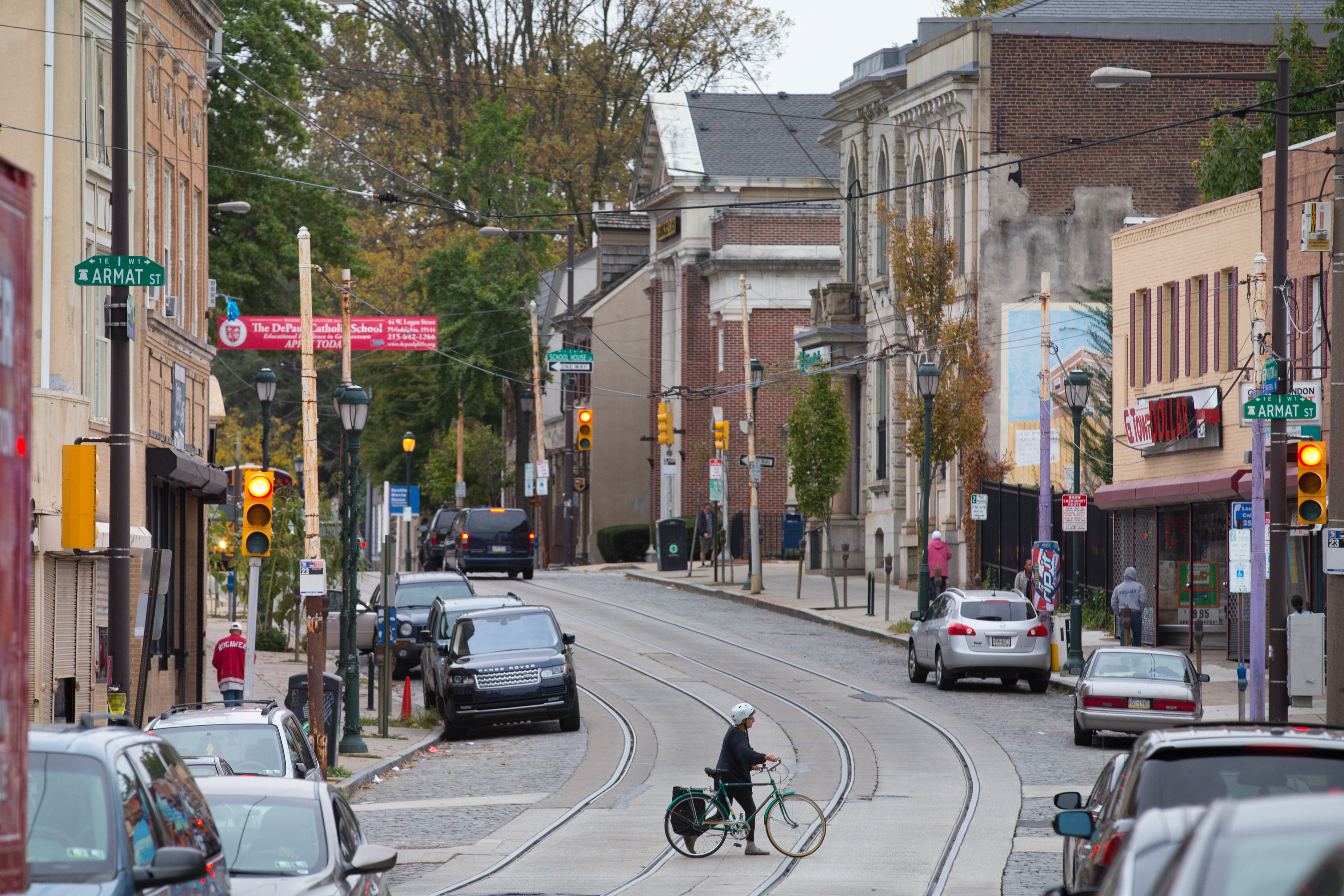 A view of Germantown Avenue in the Northwest Philadelphia neighborhood. The corridor serves as the area´s main shopping district.