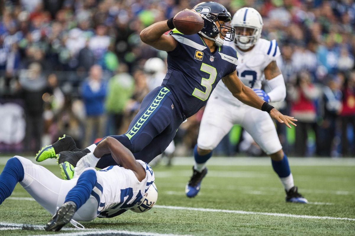 Russell Wilson has come under constant pressure because of Seattle's inconsistent offensive line.