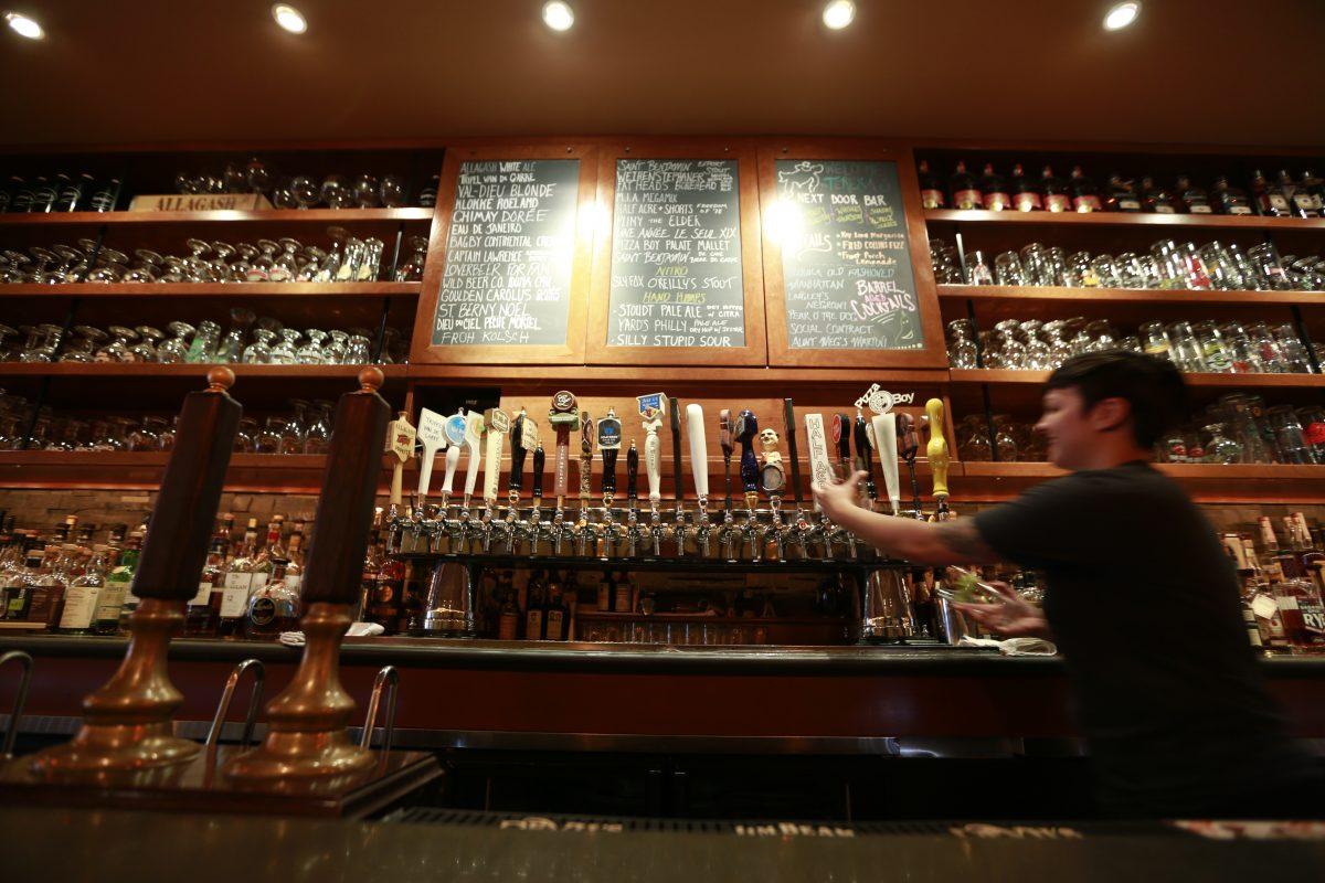Various beers on tap at Teresa's Next Door in Wayne.