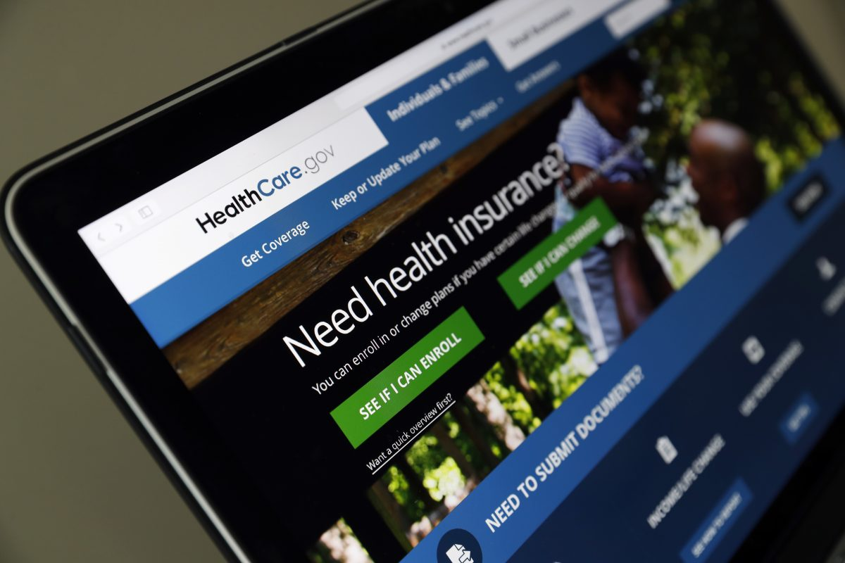 The Healthcare.gov website is seen on a laptop computer, in Washington. Open enrollment starts Nov. 1, and consumers in Pennsylvania will face far higher rates than last year.