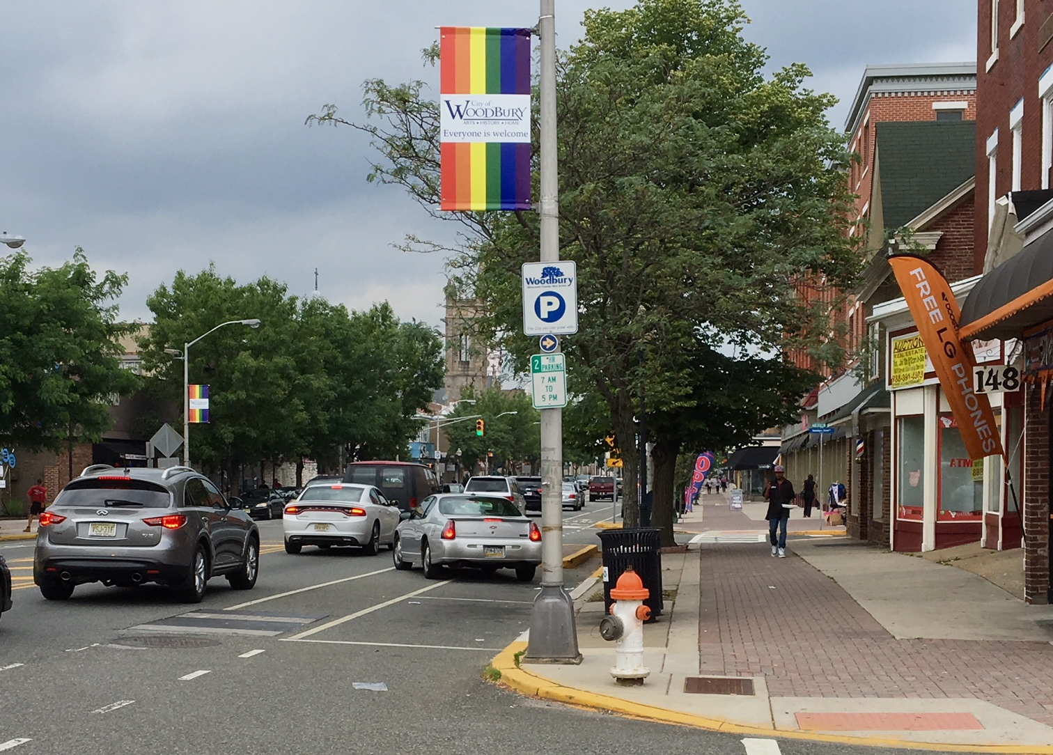 Pride banners along Broad Street in downtown Woodbury last summer showed the city´s support for LGBTQ equality.