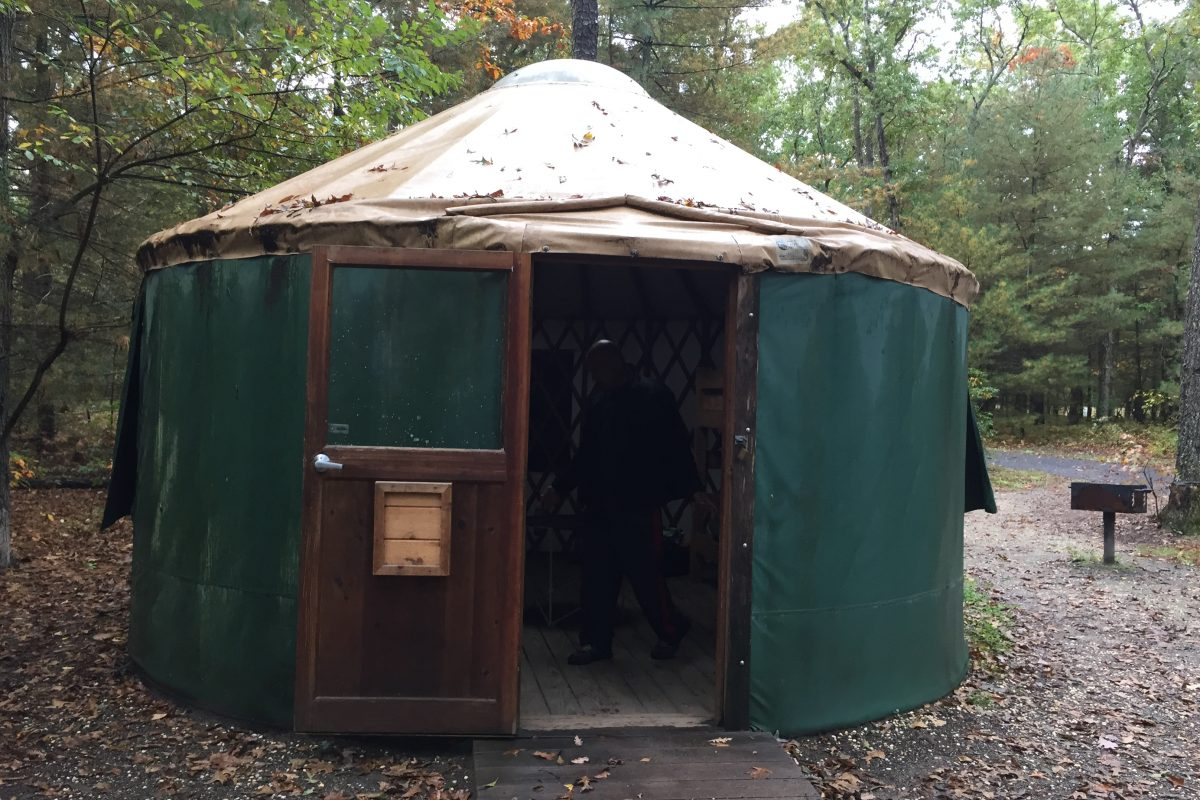 The New Jersey State Park Service is getting rid of the quirky yurts it used to rent at five different campgrounds, spanning north to south, as well as in the Pinelands.