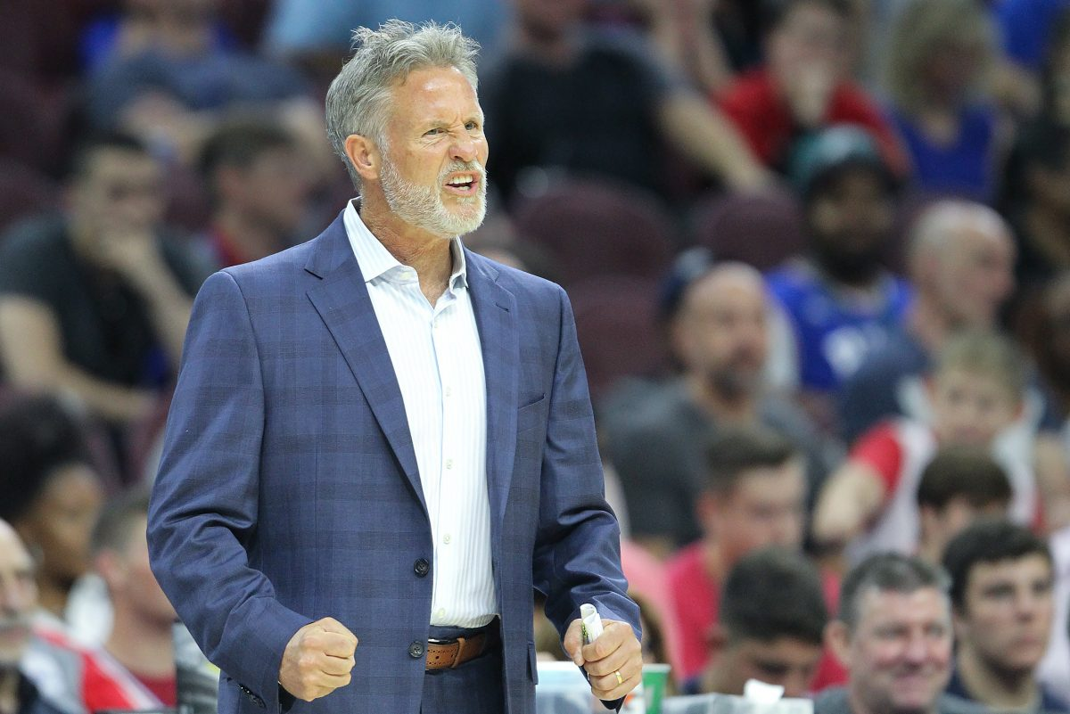 Sixers coach Brett Brown. Rule changes to timeout calls will affect how he and other NBA coaches approach substitutions.