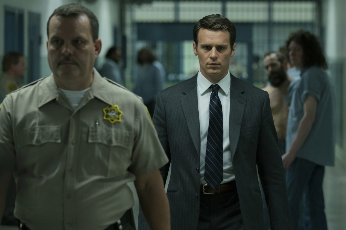 "Jonathan Groff (right) plays FBI profiler Holden Ford in Netflix's ""Mindhunter."""