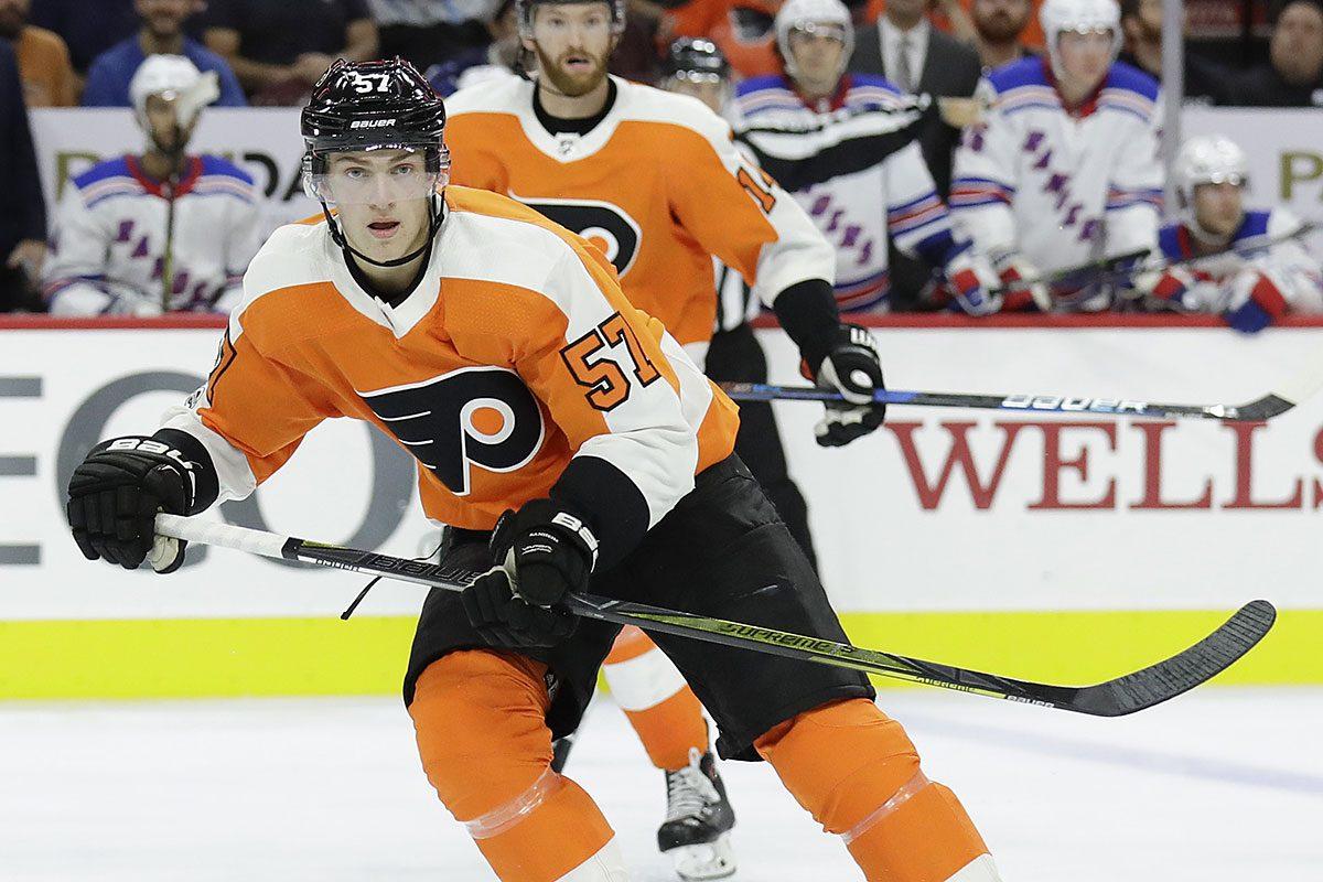 Flyers defenseman Travis Sanheim.