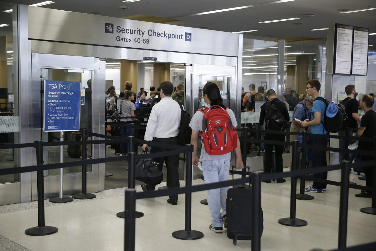 Passengers at all U.S. airports face new measures for screening electronic devices bigger than a cellphone. Security officers will ask travelers in regular lanes to take all larger devices out of their bag and put them in a bin by themselves. These are passengers in San Francisco. The change won't apply to Precheck lanes.