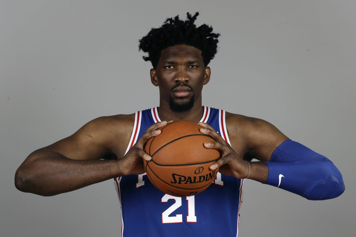 Sixers center Joel Embiid