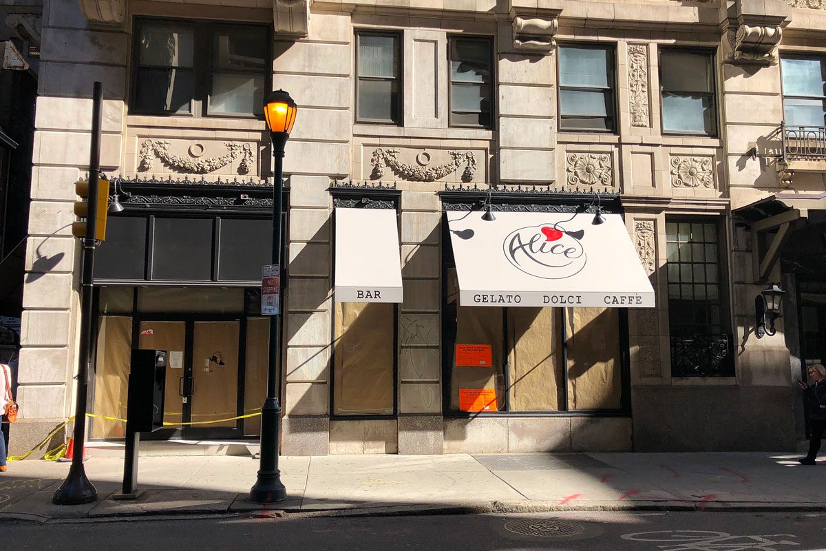 Alice, at 15th and Locust Streets, is due to open in November.