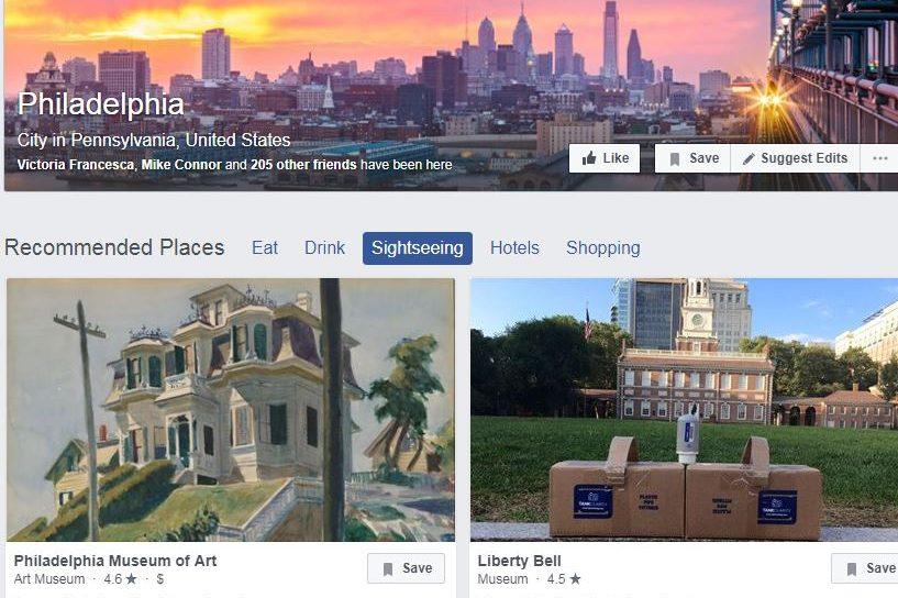 Facebook's Philadelphia city page