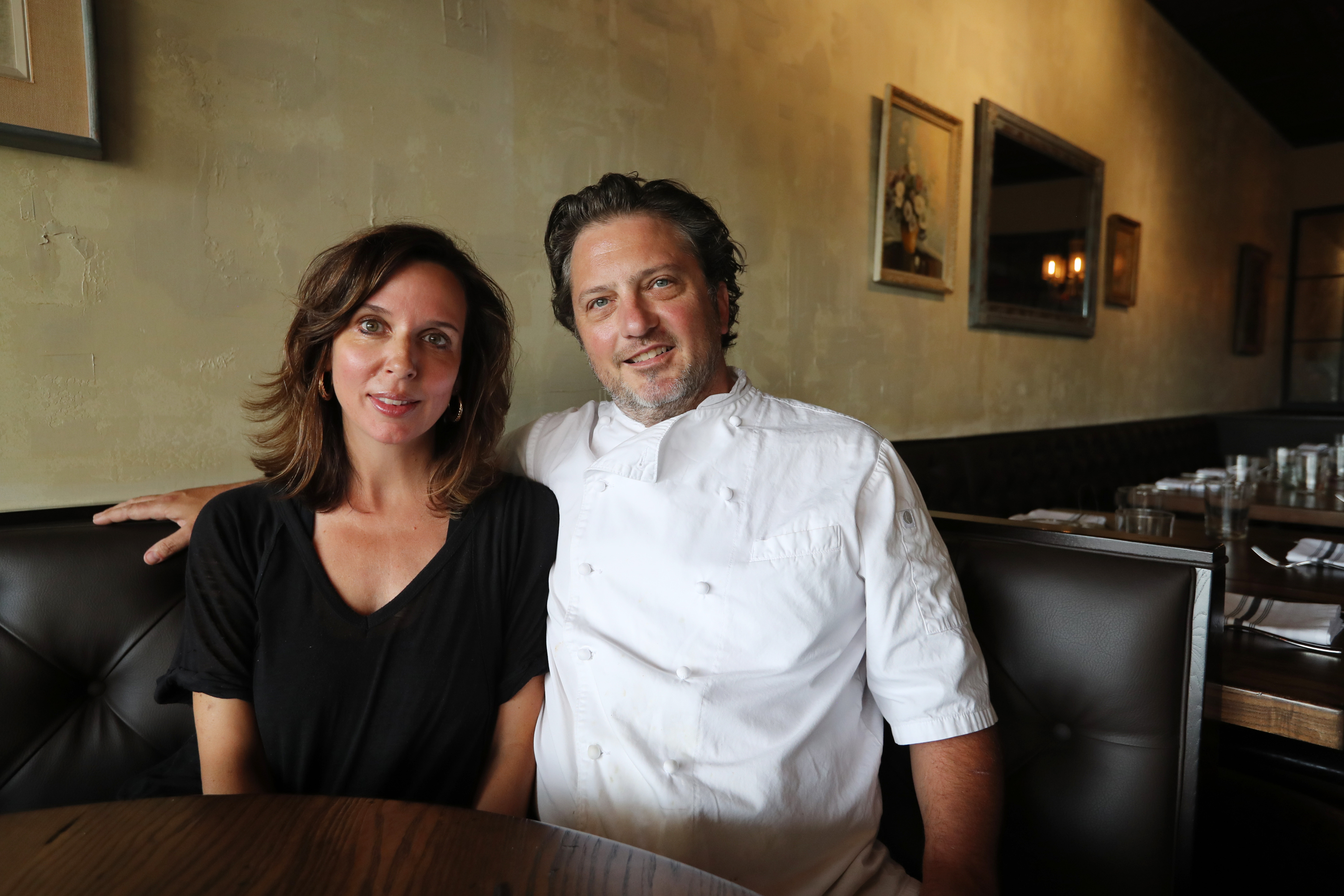 Andrea and Bryan Sikora at Hearth Kitchen in Kennett Square.
