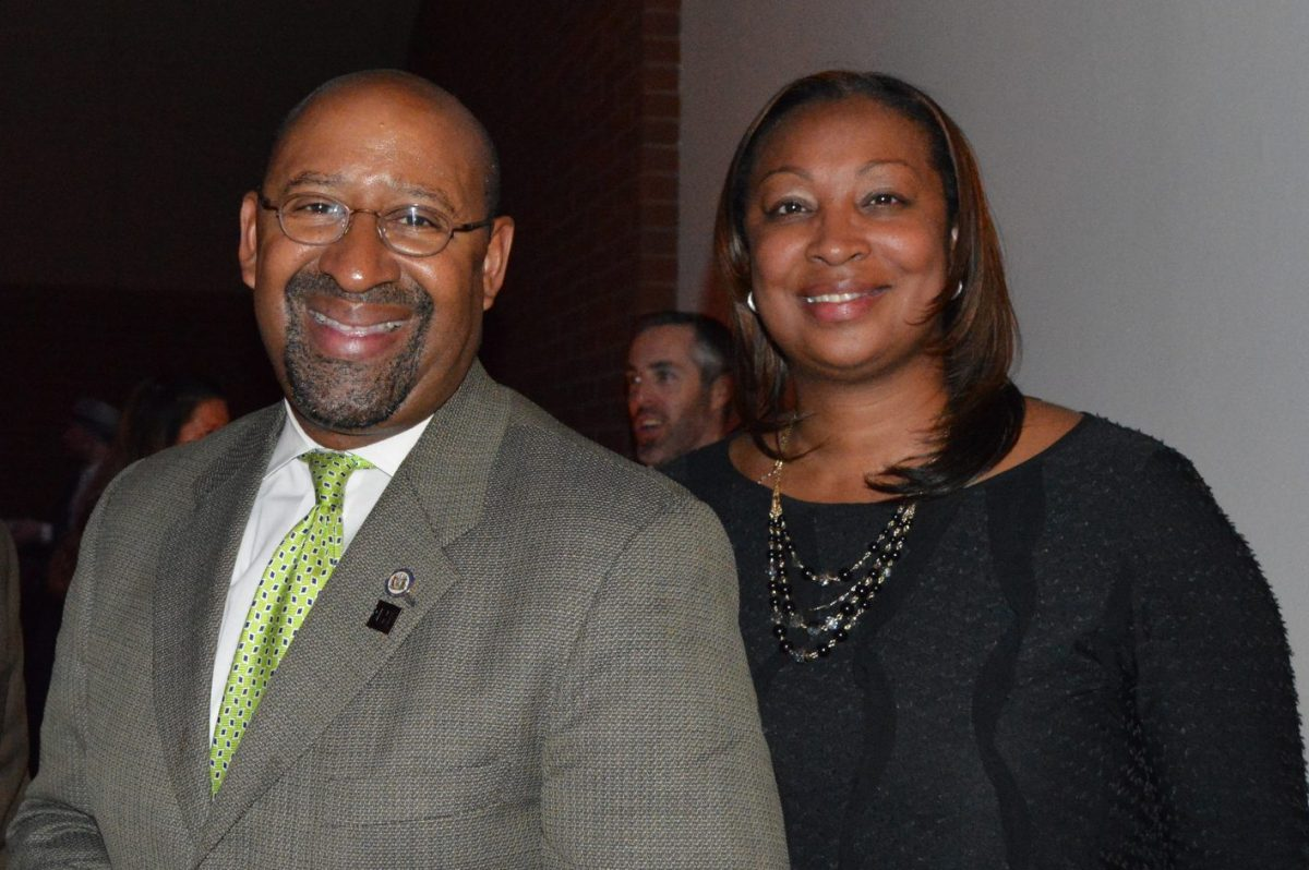 "Desiree Peterkin-Bell with former Philadelphia Mayor Michael Nutter. Peterkin-Bell was part-author of a ""best-selling,"" if pricey (for her) book."