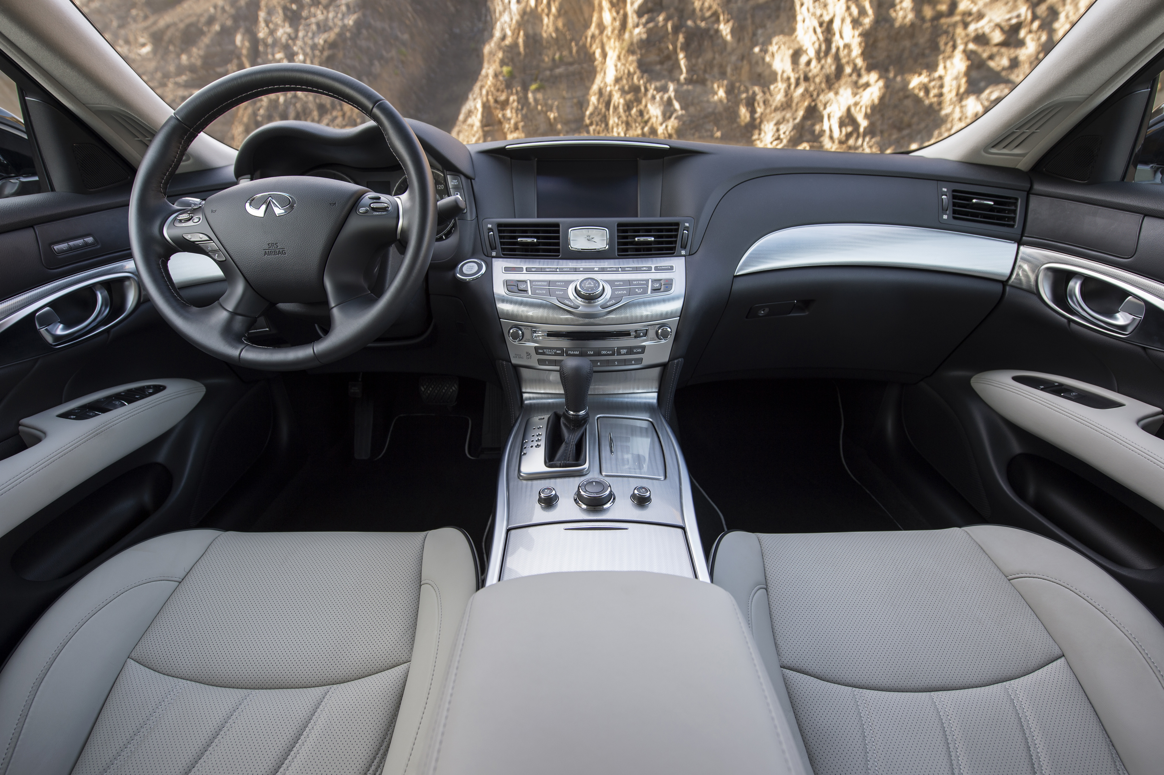 The 2018 Infiniti Q70 offers luxury and plenty of room, but shows its age with the infotainment interface.