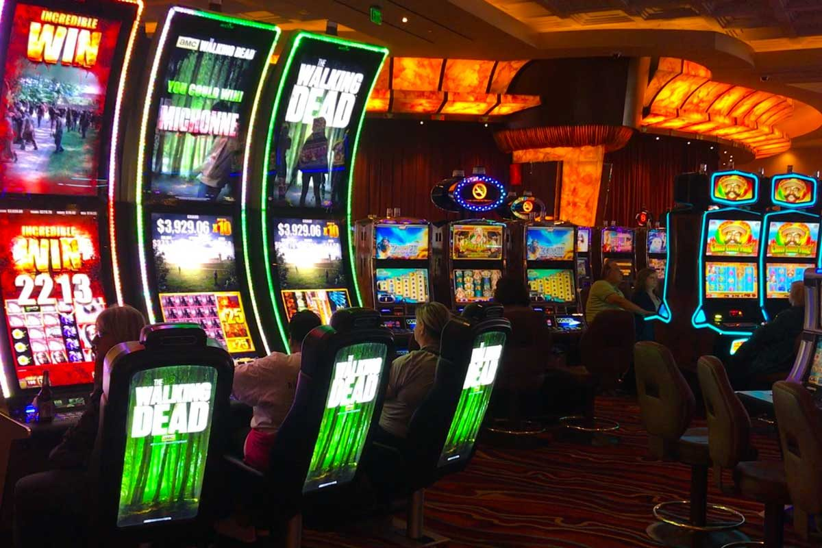 Inside, patrons play the slots.  Outside, unions are in disagreement over who should build signs at the Parx Casino expansion in Bucks County.