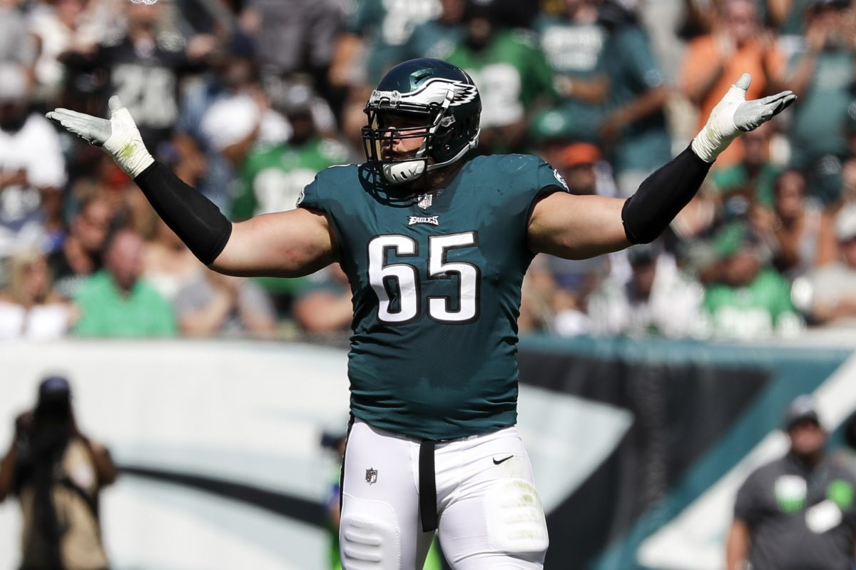 Eagles offensive tackle Lane Johnson expects to return this week.