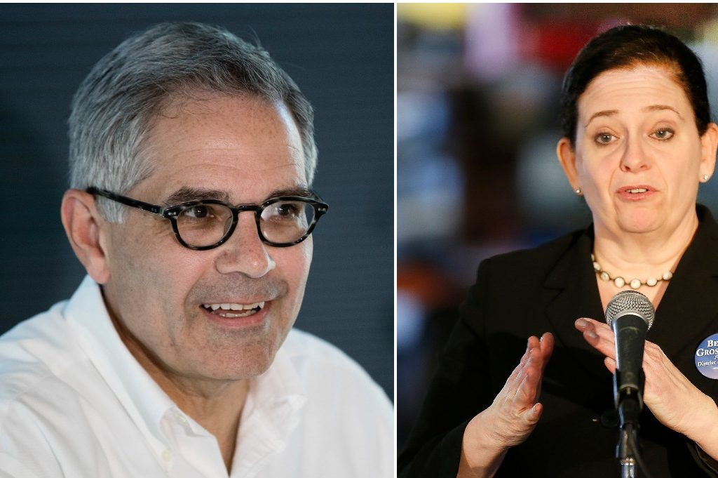 Democrat Larry Krasner (left) and Republican Beth Grossman will face off in the Nov. 7 general election for Philadelphia District Attorney.