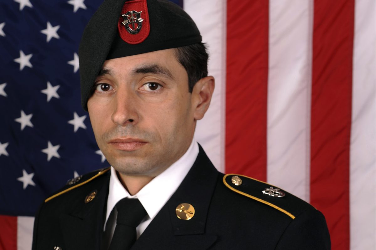 This photo provided by the US Army shows Staff Sgt. Mark De Alencar, who was killed Saturday, April 8, 2017, in combat in Afghanistan.