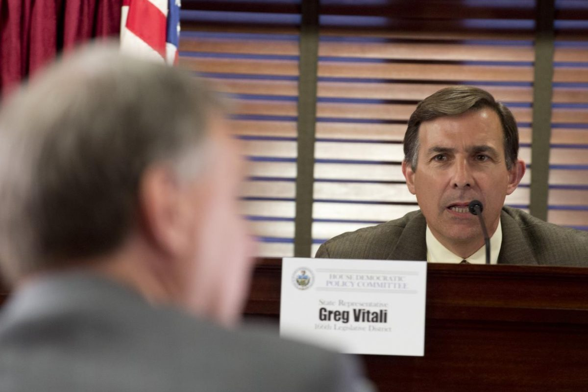 State Rep. Greg Vitali during a recent House committee hearing.