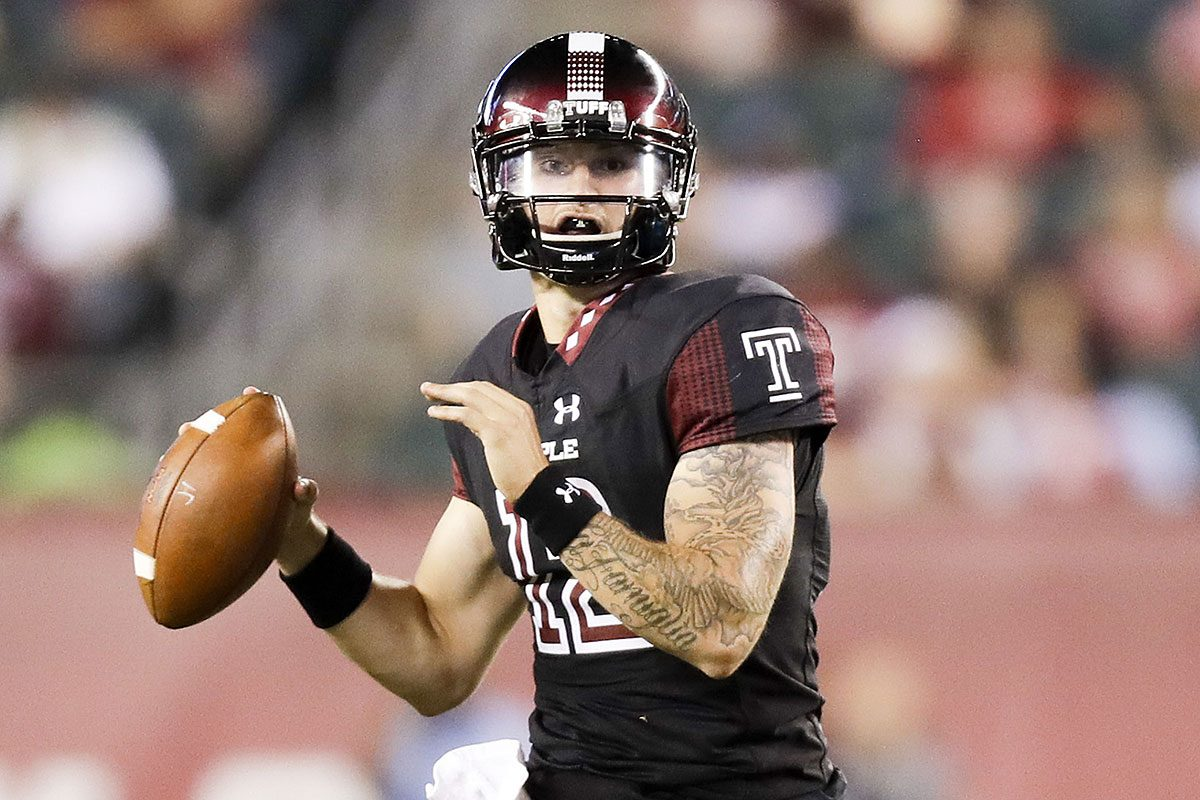 Temple quarterback Logan Marchi has thrown nine touchdown passes this season, but also eight interceptions.