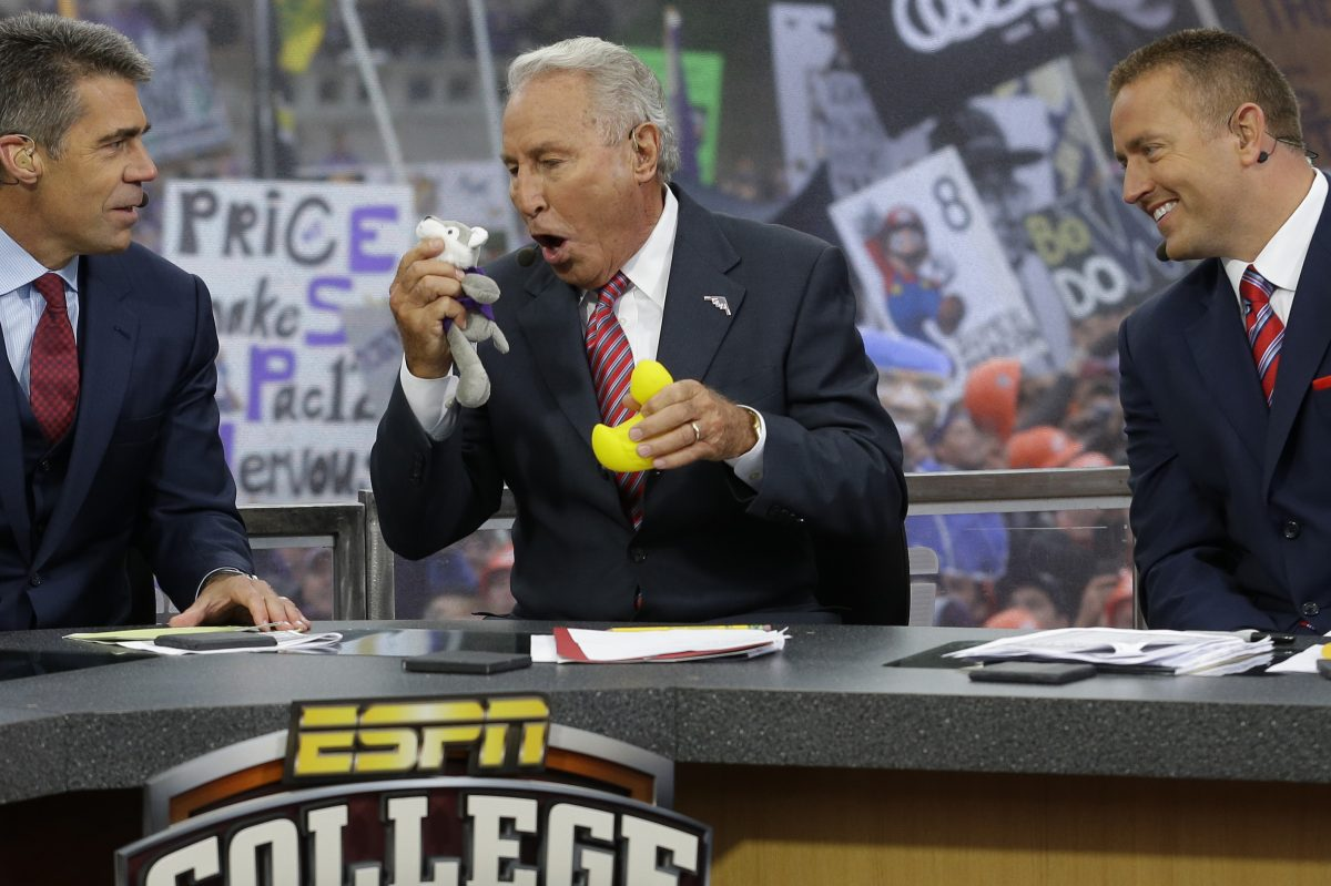 ESPN College GameDay host Lee Corso, and the rest  of the crew was at Penn State Saturday morning.