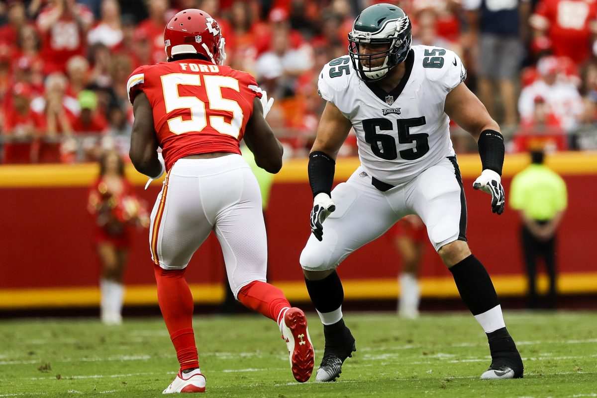 Eagles offensive tackle Lane Johnson (right) will have several key matchups over the next 10 games.