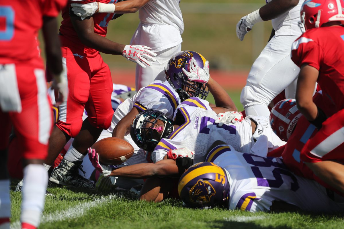 Camden's Najyere Edwards scored two touchdowns Saturday vs. Pennsauken.