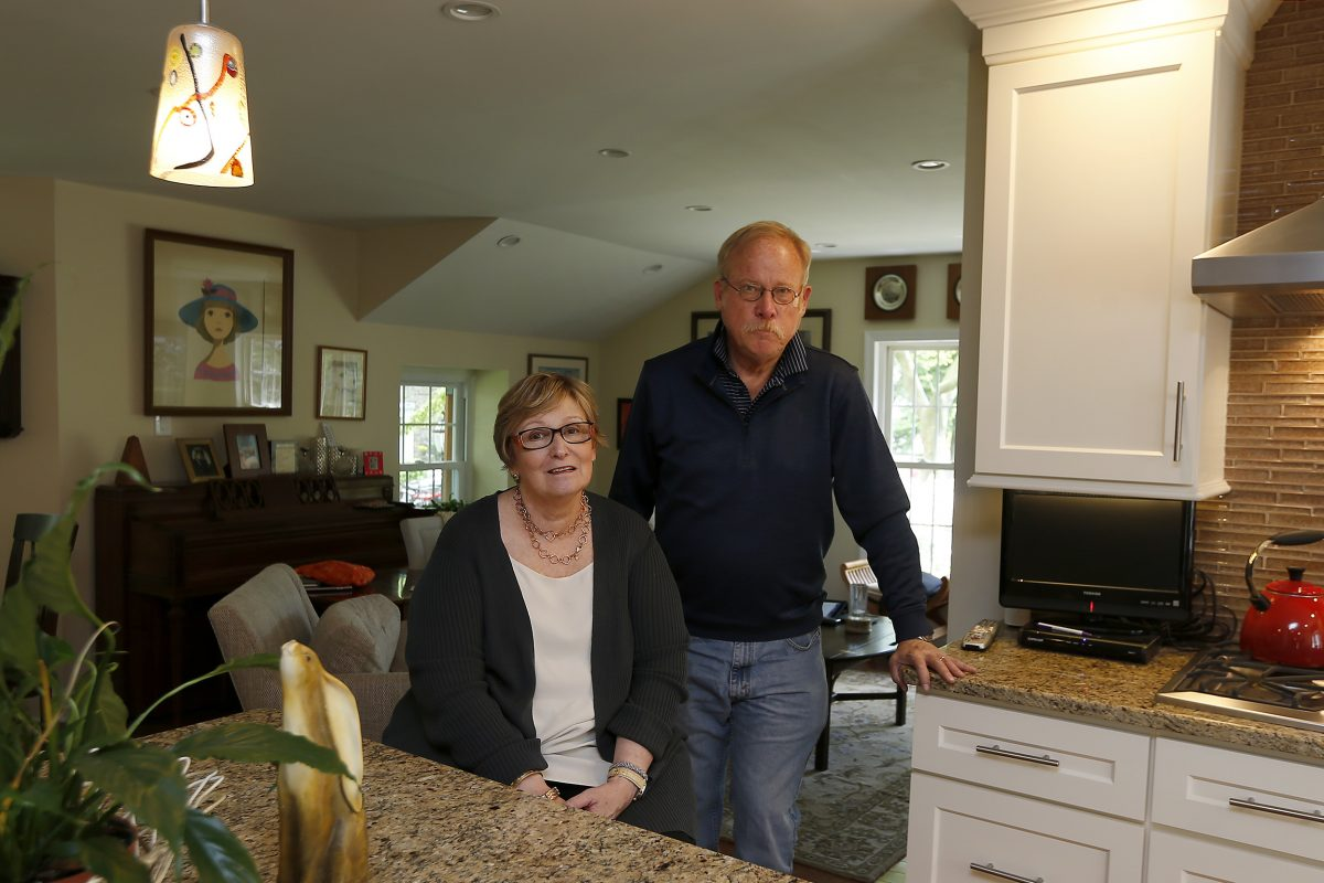 Jane and Eric Luce, in their remodeled home in Wynnewood.  (DAVID MAIALETTI / Staff)