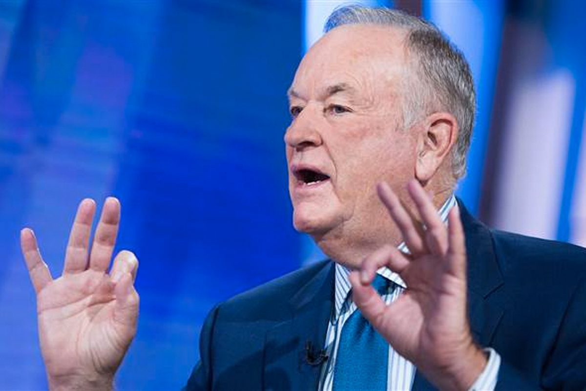 """Former Fox News host Bill O'Reilly during an interview on """"Today"""" in September."""