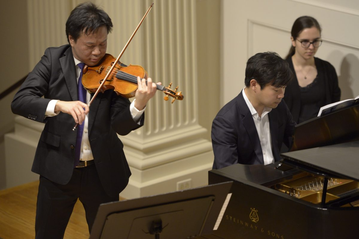 Violinist Nikki Chooi and pianist Sejoon Park performed Sunday afternoon at the American Philosophical Society.