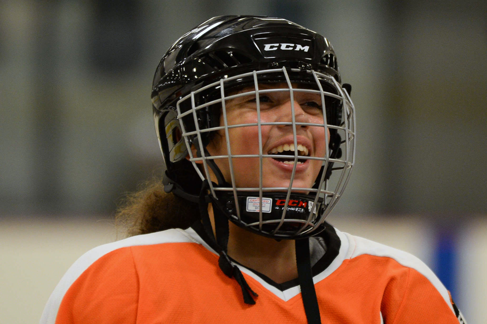 Rosie Castro during practice on Thursday Oct. 19. Castro and 10 other players from the Philadelphia area will be traveling to Boston to meet the U.S. Women´s National Hockey team. GENEVA HEFFERNAN / Staff Photographer