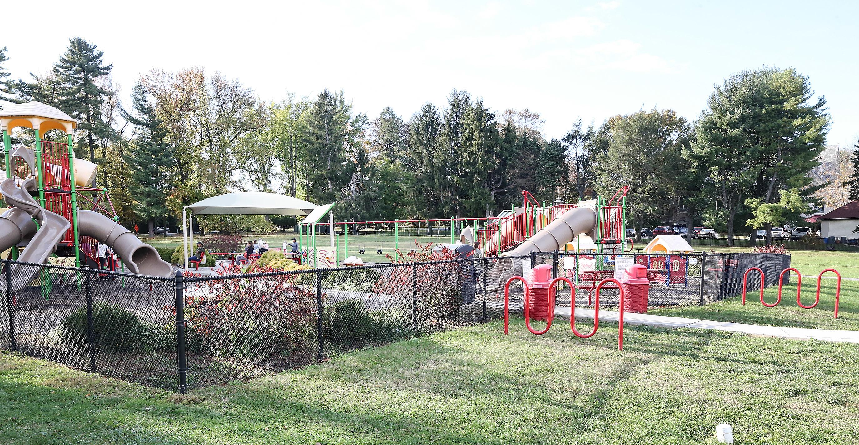 Ashbridge Park playground. Wednesday, October 25, 2017. STEVEN M. FALK / Staff Photographer