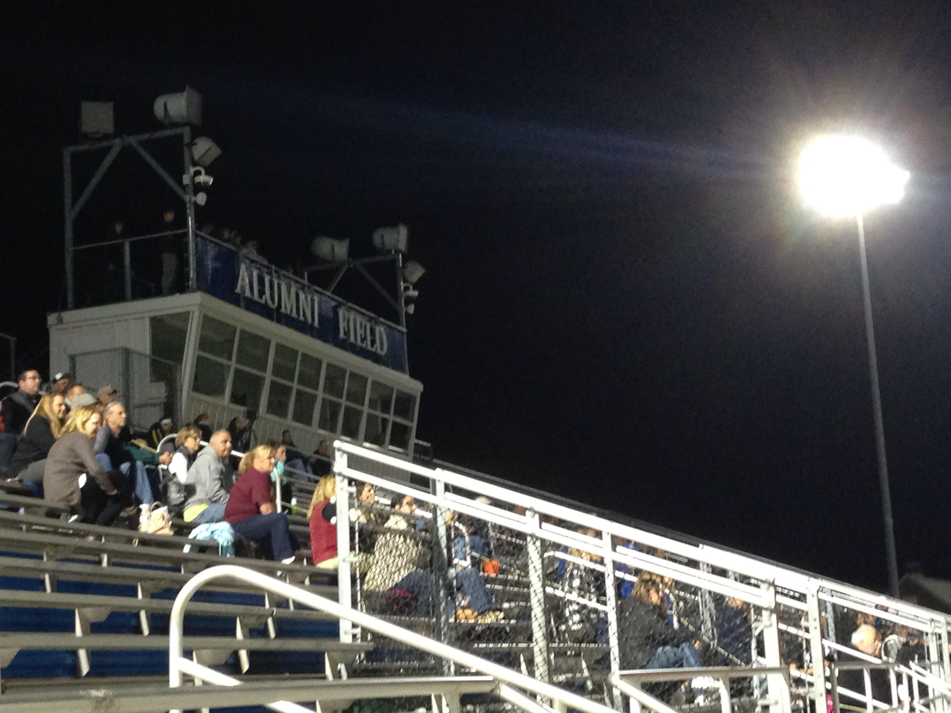 A crowd at Quakertown Community High School´s Alumni Field watch a varsity girls´ soccer match on Oct. 18.
