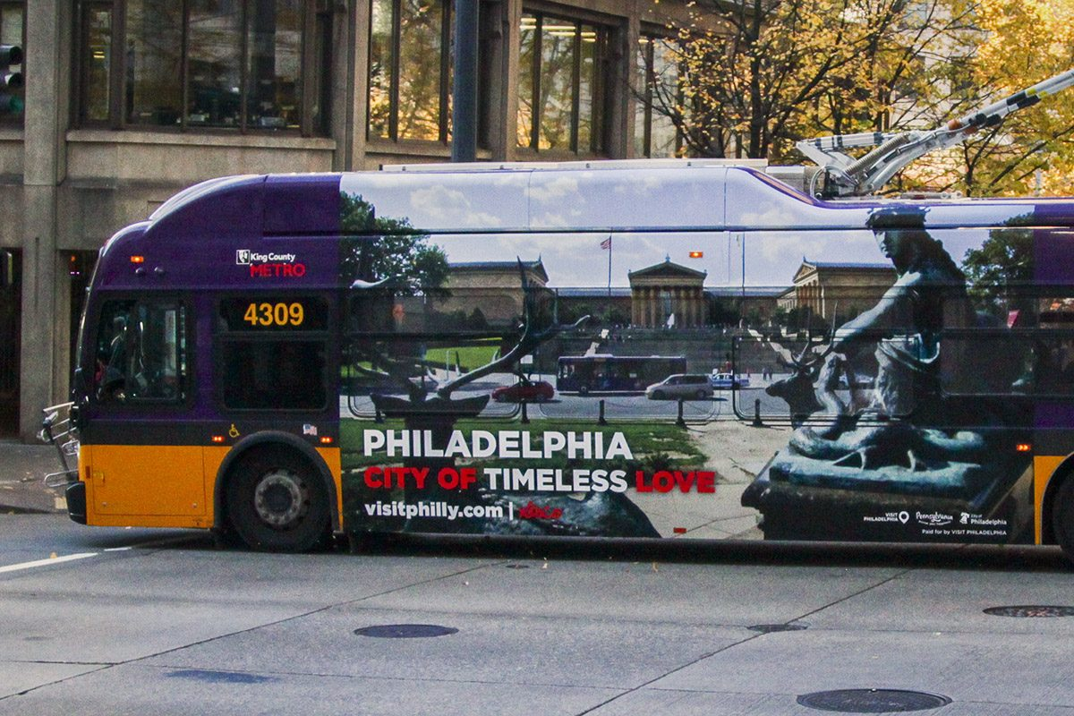 Philadelphia is taking its pitch for Amazon's second headquarters to the streets of Seattle with a monthlong, shock-and-awe advertising blitz on the cityÕs buses and trolleys.