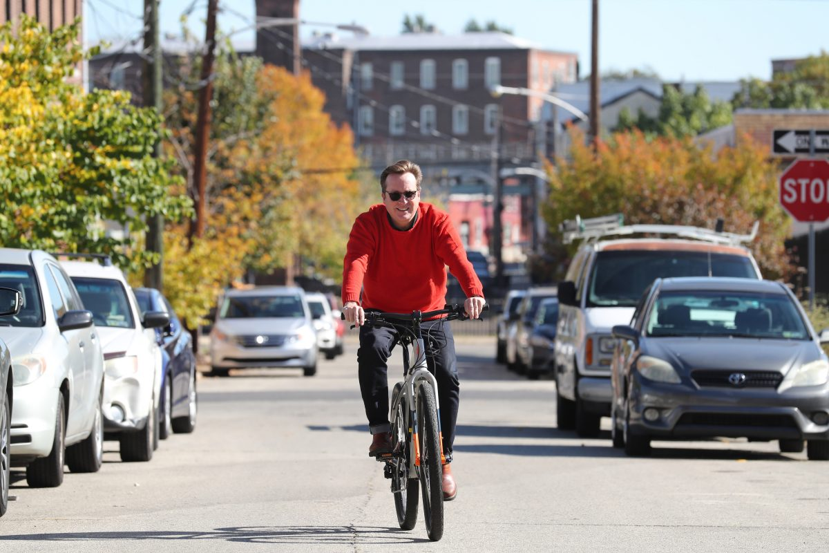 "Brian Powell, cofounder and  CEO of Junto Bicycle Works Ltd., said his electric bikes are ""not about competing with bikes. I want to get cars off the road."""