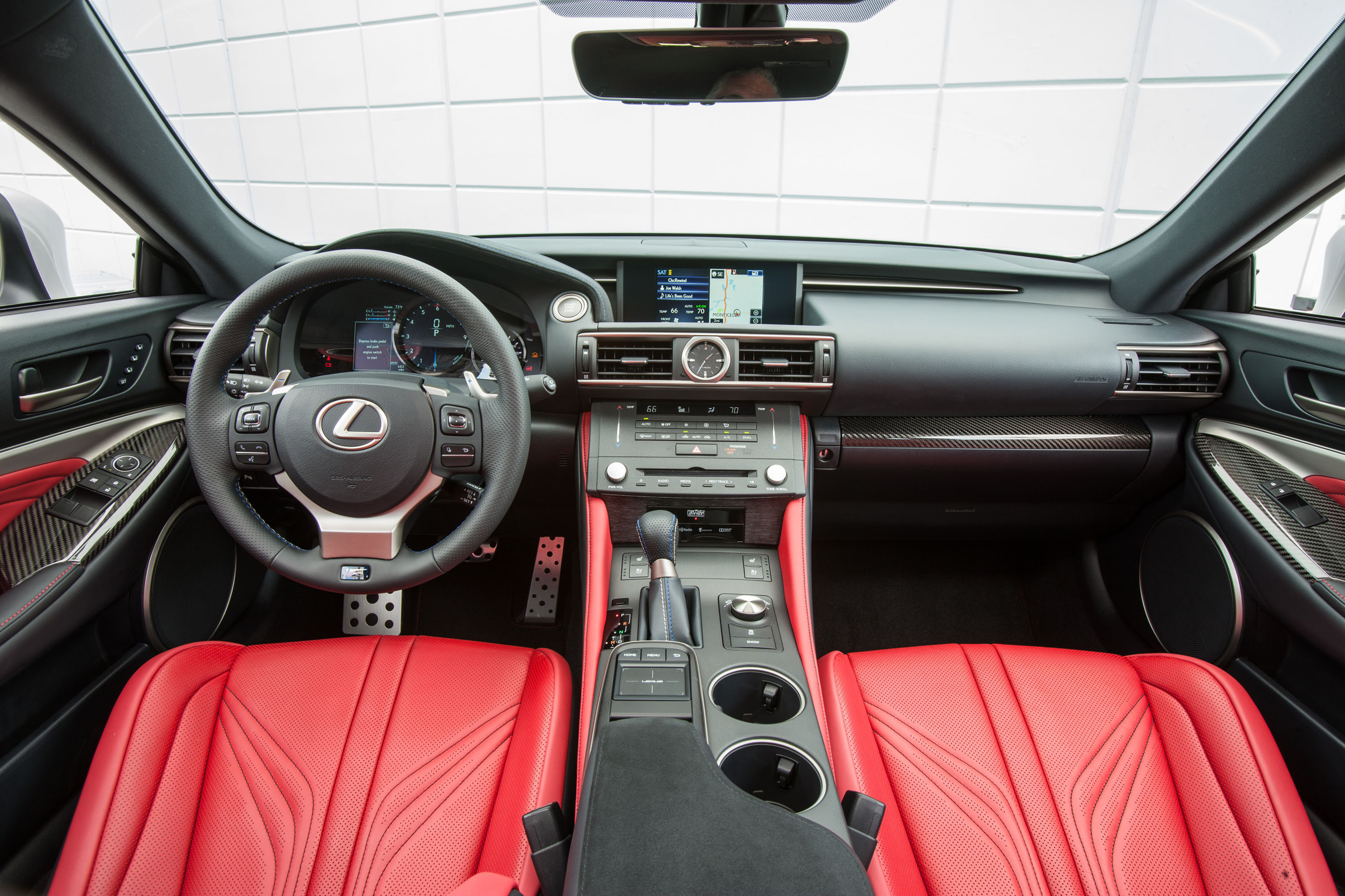 "The Lexus RCF's seats are comfortable enough, but are sportier and don't inspire the usual ""aaah"" as most Lexuses."