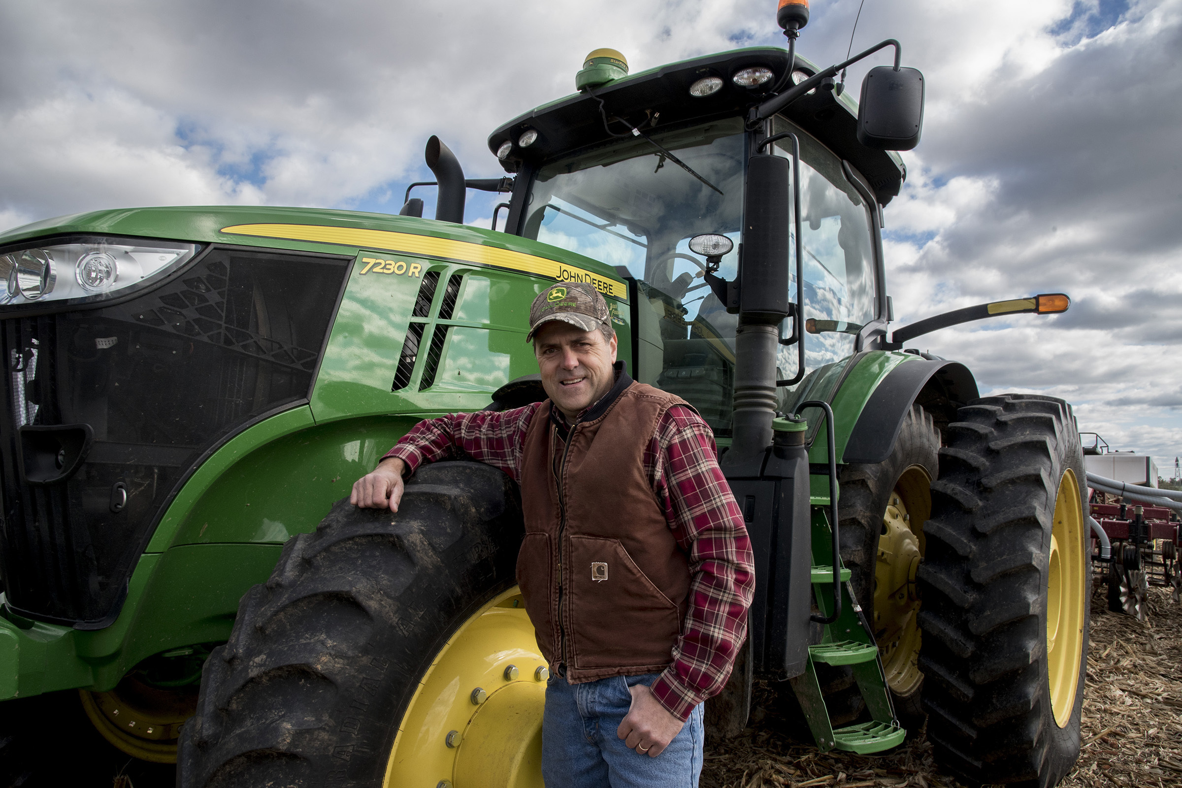Don Cairns, 51, Chester County´s 2017 Farmer of the Year, grows corn, soybeans and wheat on 1,650 acres of his owned and leased land in and around his Parkesburg home.