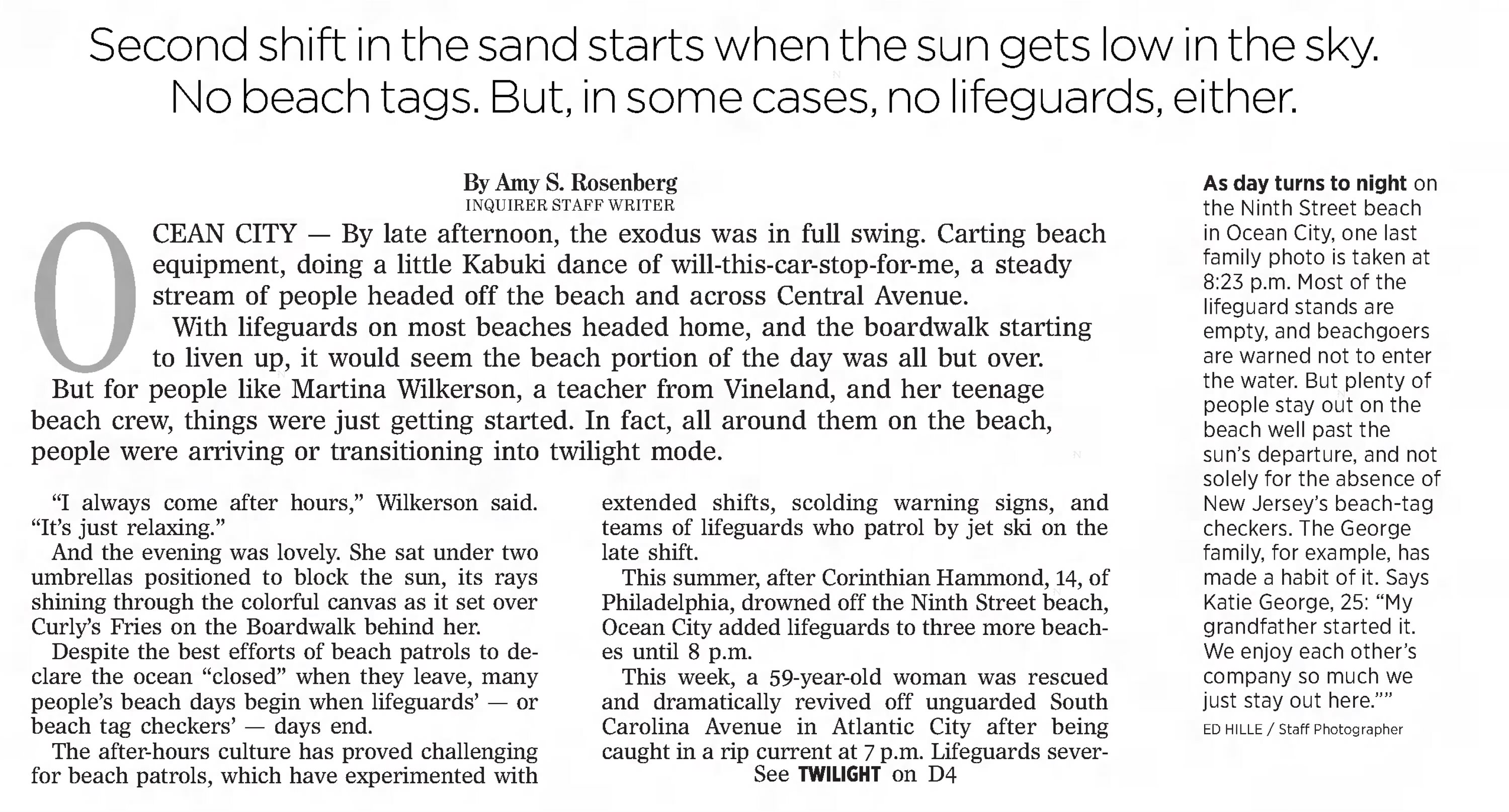 Inquirer article from Aug. 9, 2014.