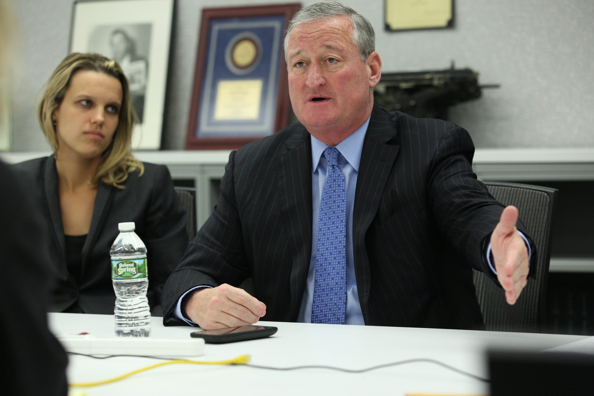 Mayor Kenney speaks to the Inquirer and Daily News Editorial Board following a call to dissolve the SRC.