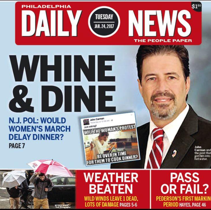 Daily News front page John Carman